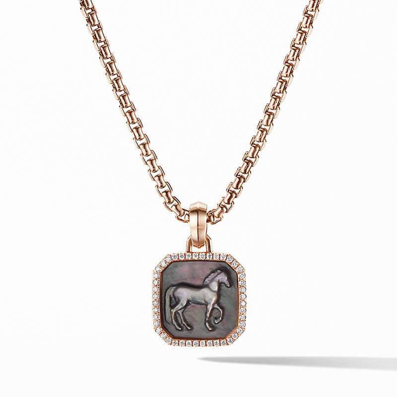 Petrvs® Horse Amulet in 18K Rose Gold with
