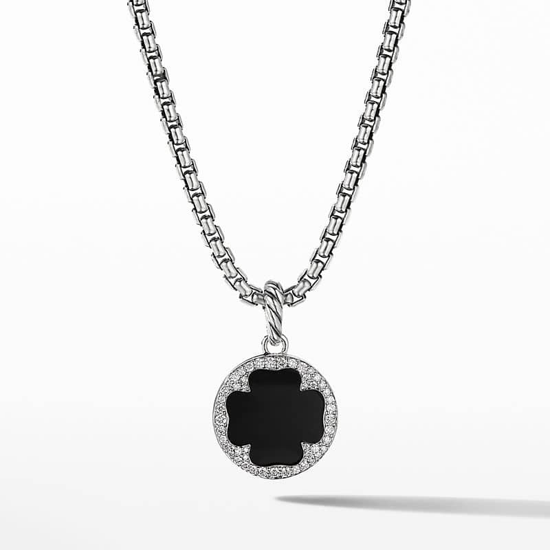 DY Elements® Clover Disc Pendant with Black Onyx