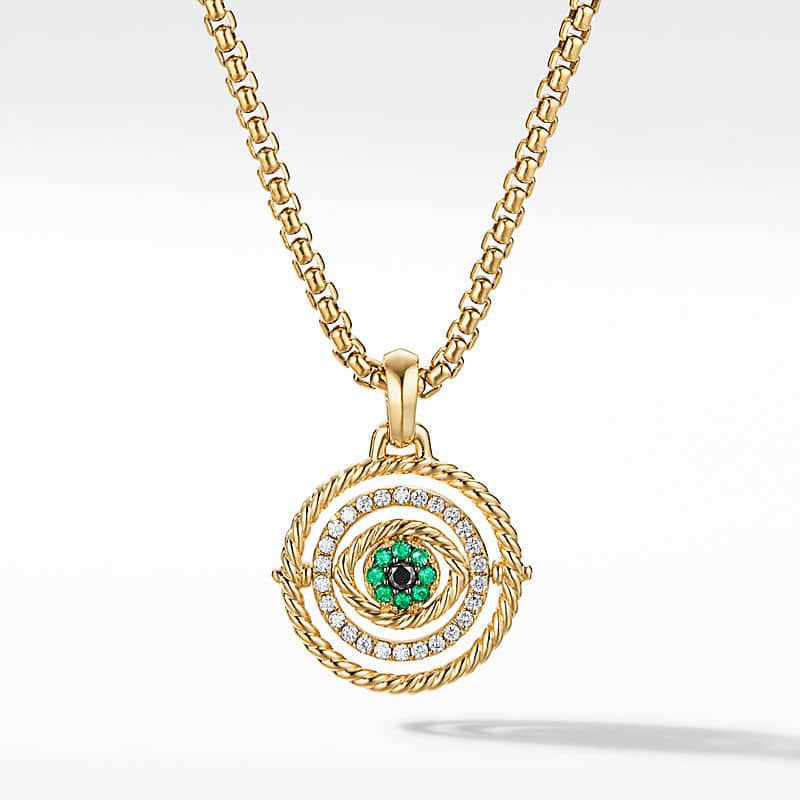 Evil Eye Mobile Amulet in 18K Yellow Gold