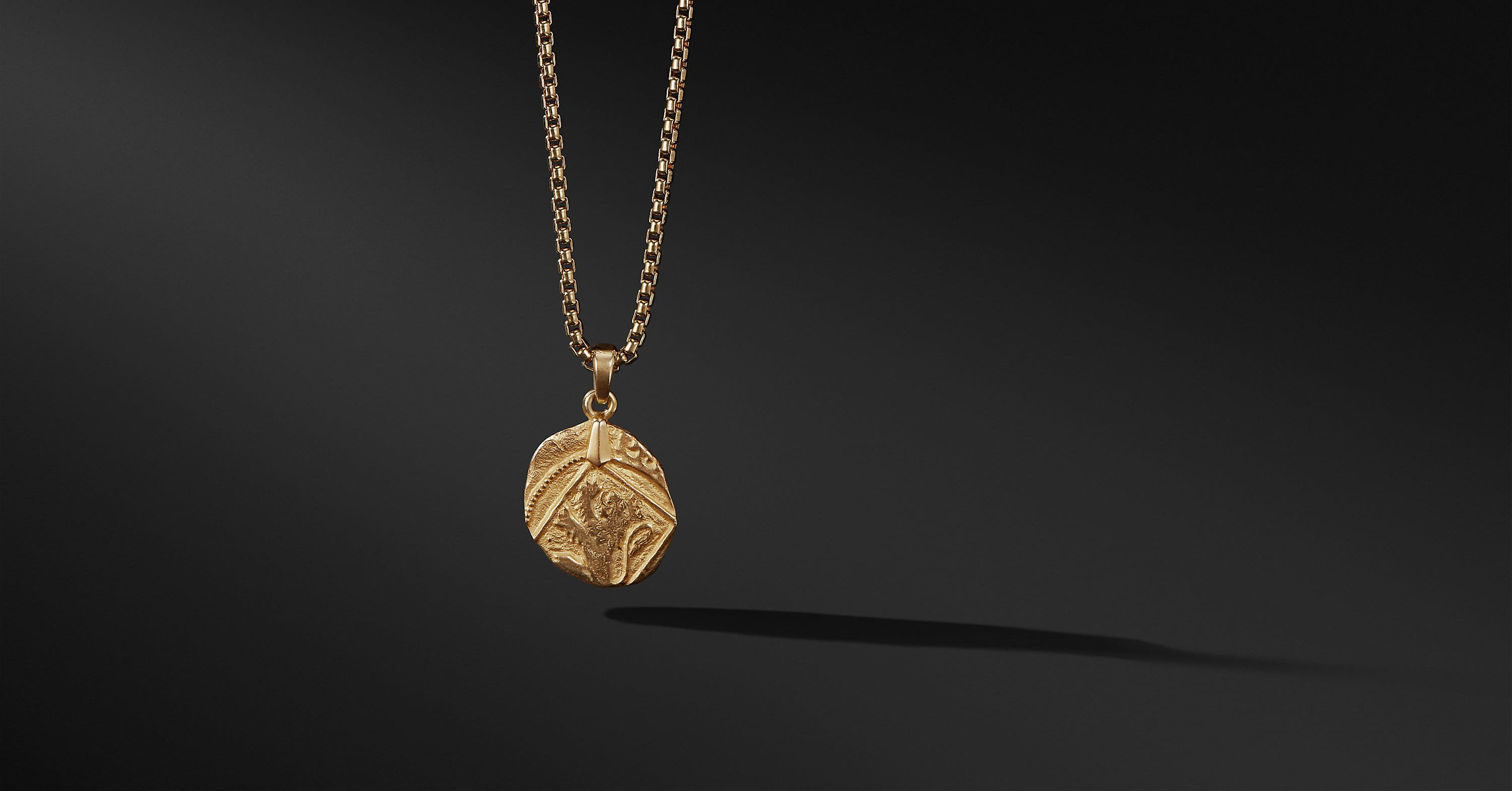 Shipwreck Coin Amulet in 22K Gold