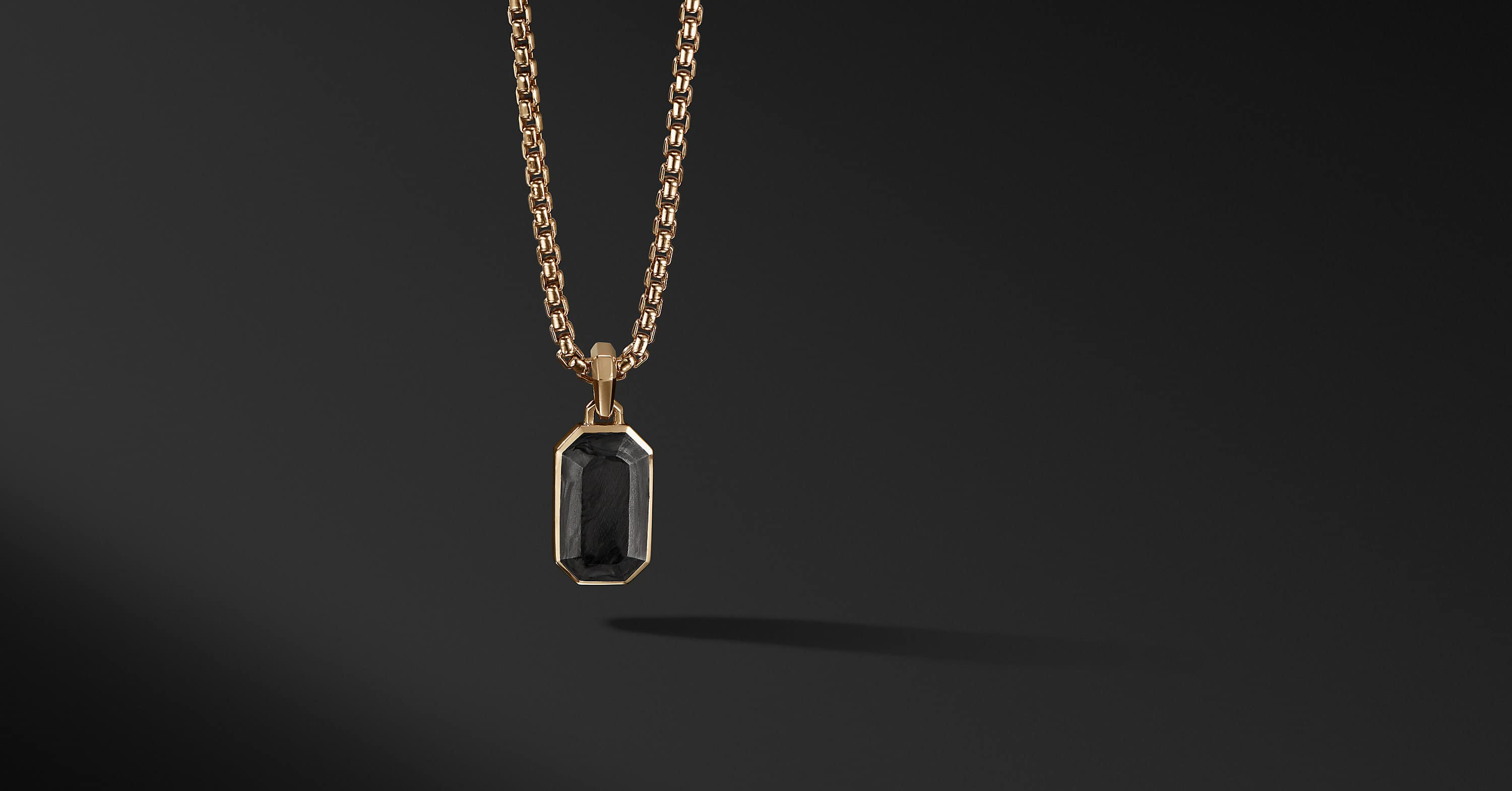Forged Carbon Amulet with 18K Gold