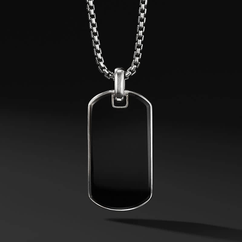 Exotic Stone Tag in Black Onyx, 42mm