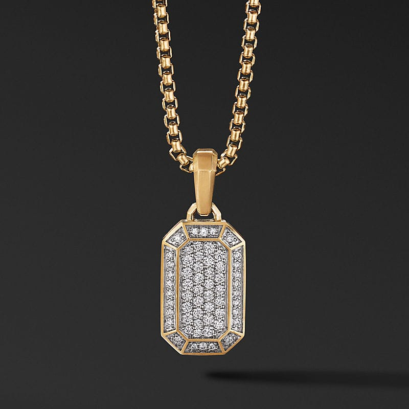 Pavé Amulet in 18K Yellow Gold with Diamonds