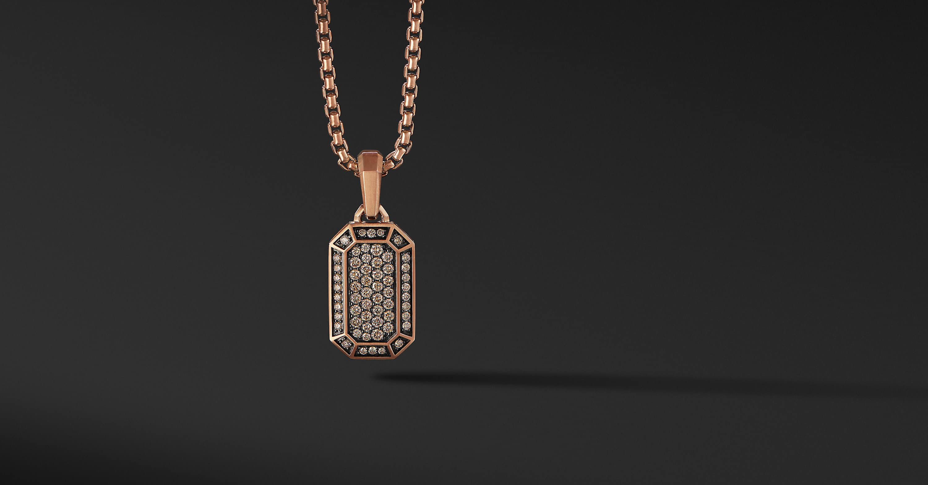 Pavé Amulet in 18K Rose Gold, 22mm