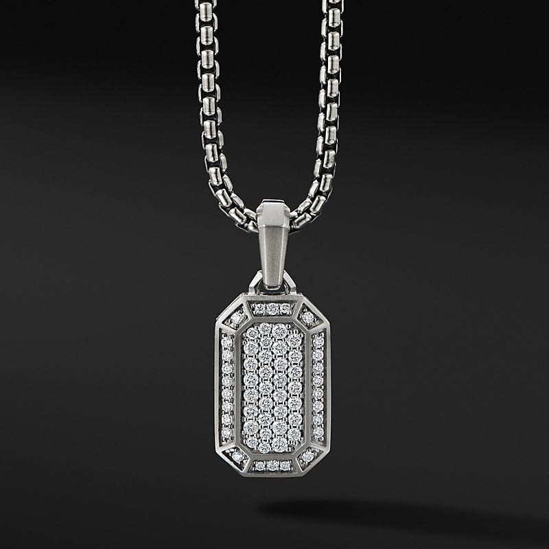 Pavé Amulet in 18K White Gold with Diamonds