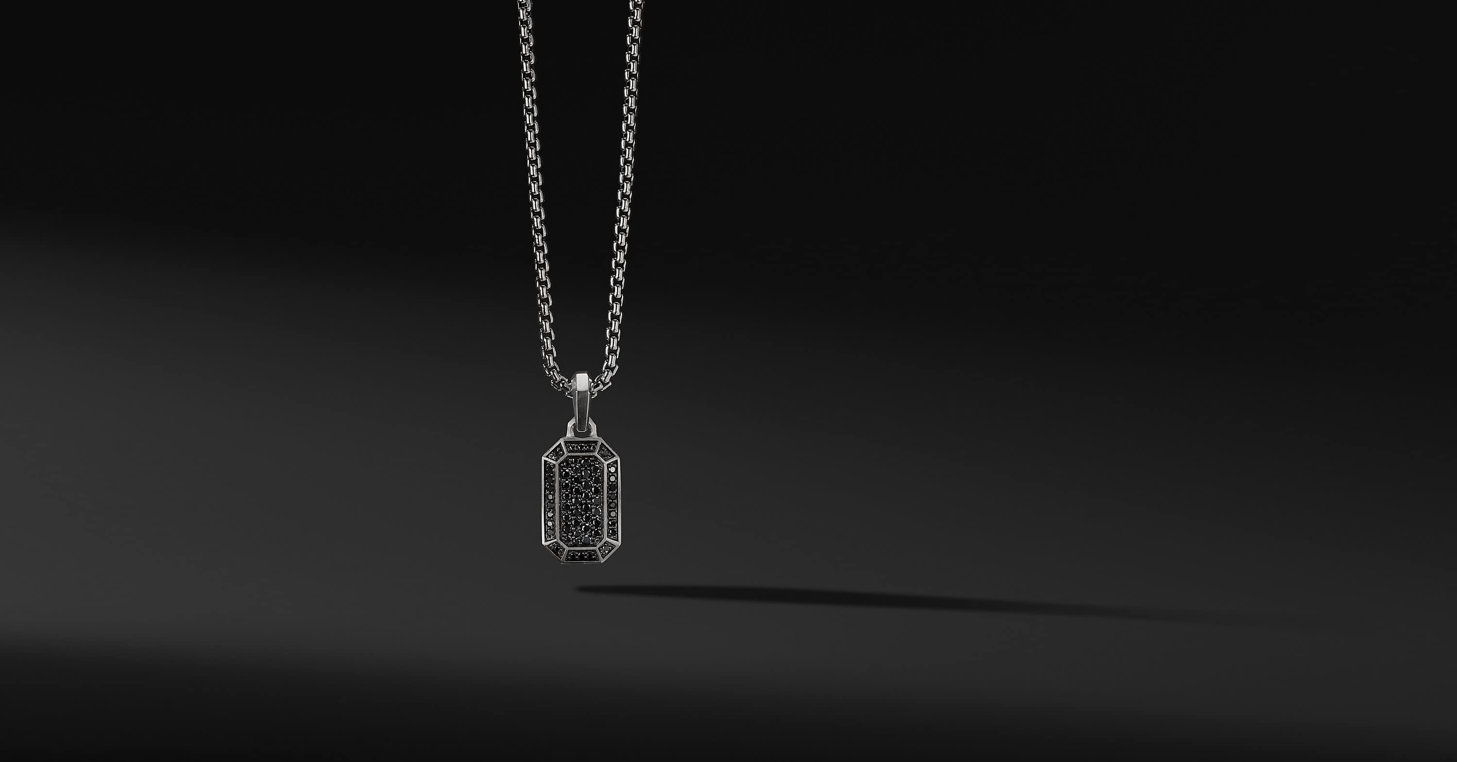 Streamline Pave Amulet with Black Diamonds