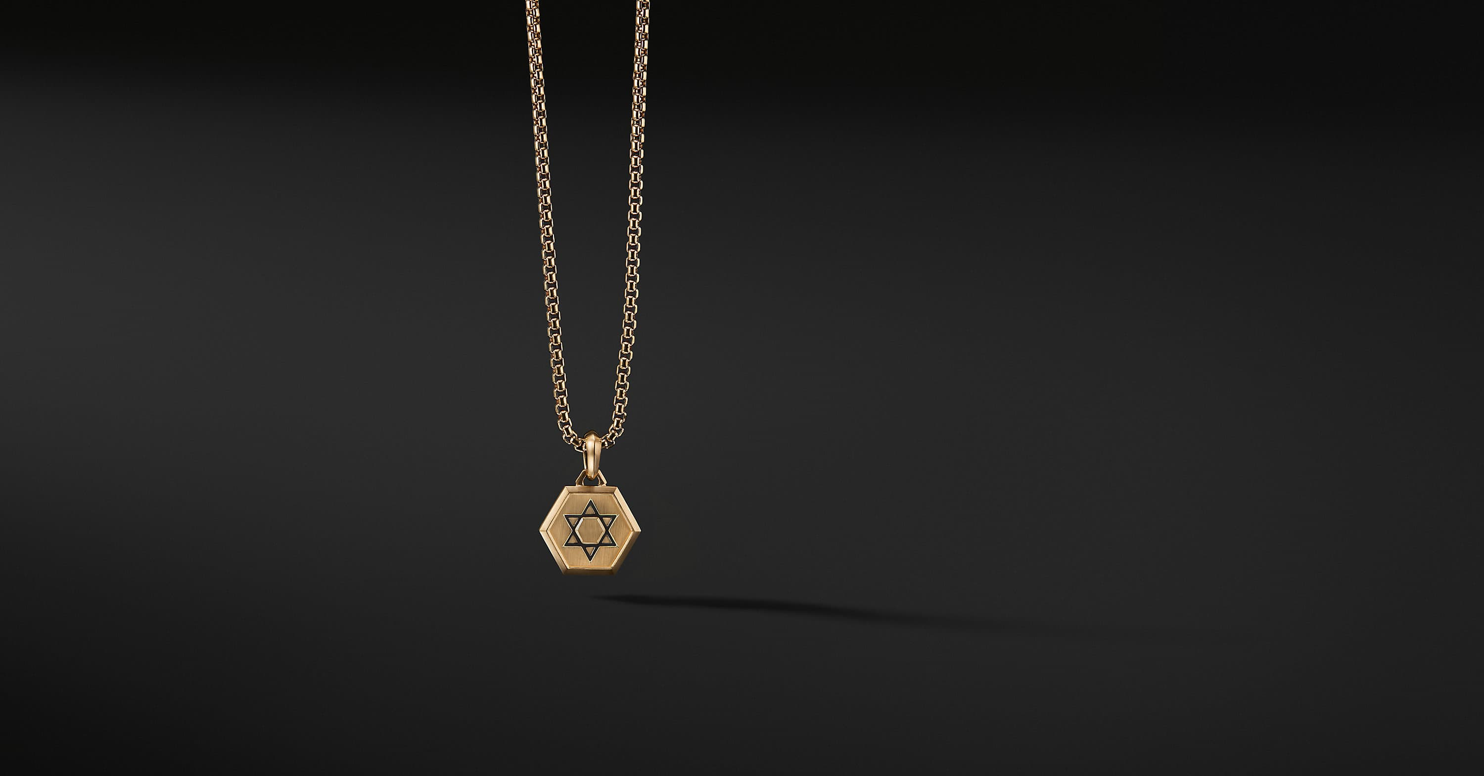 Roman Star of David Amulet in 18K Gold