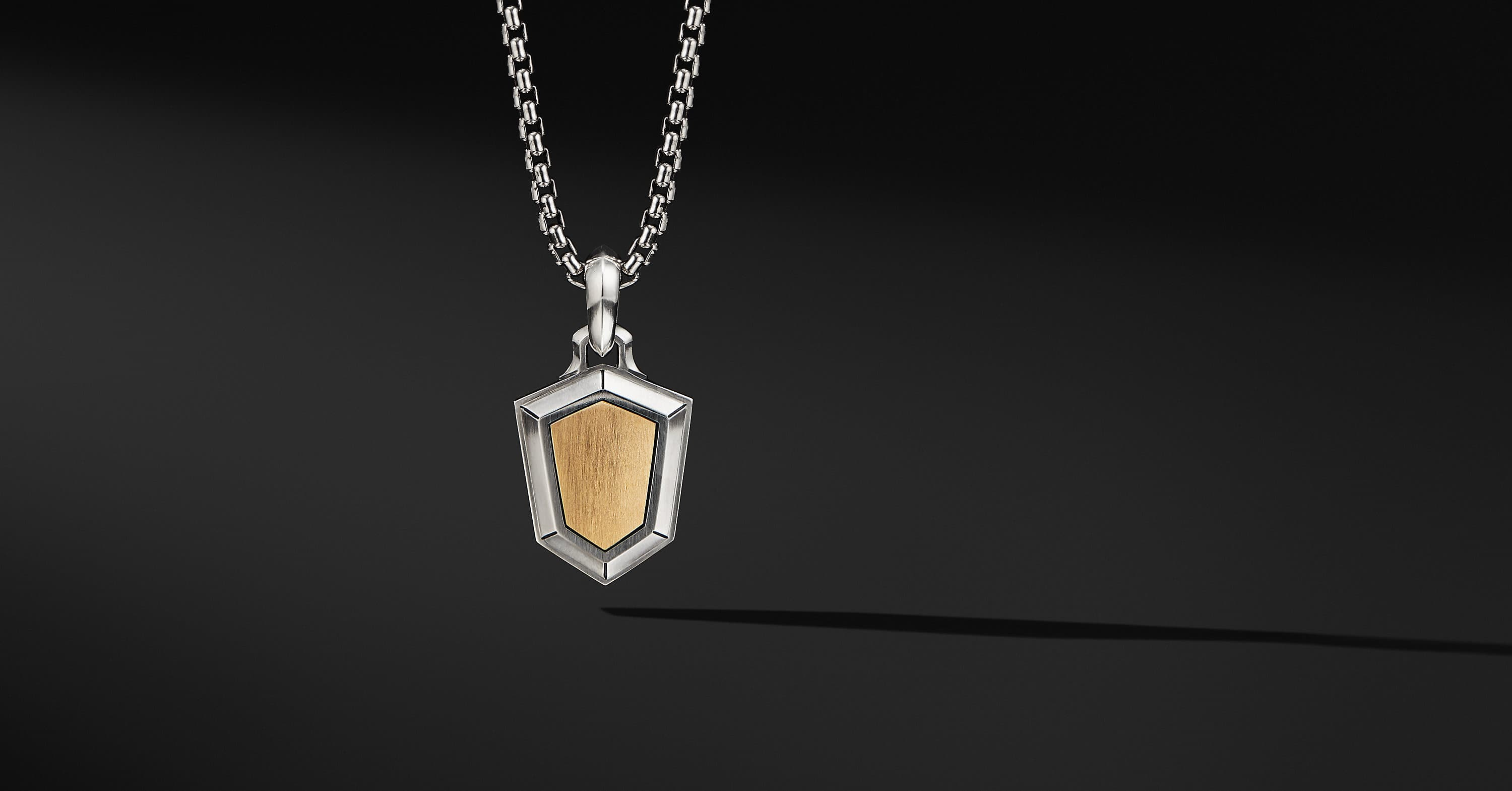 Shield Amulet with 18K Yellow Gold