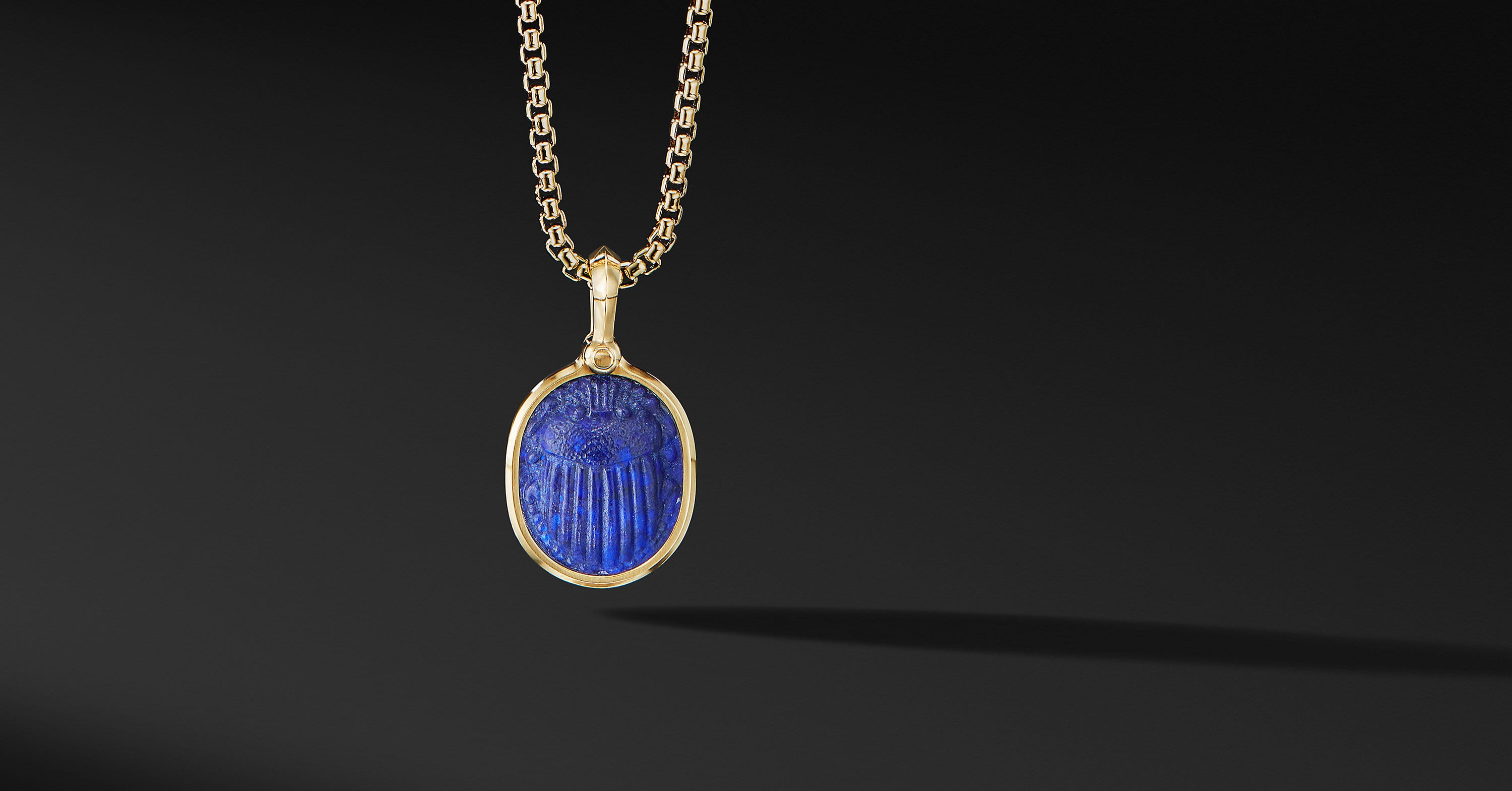 Petrvs Scarab Amulet in 18K Yellow Gold