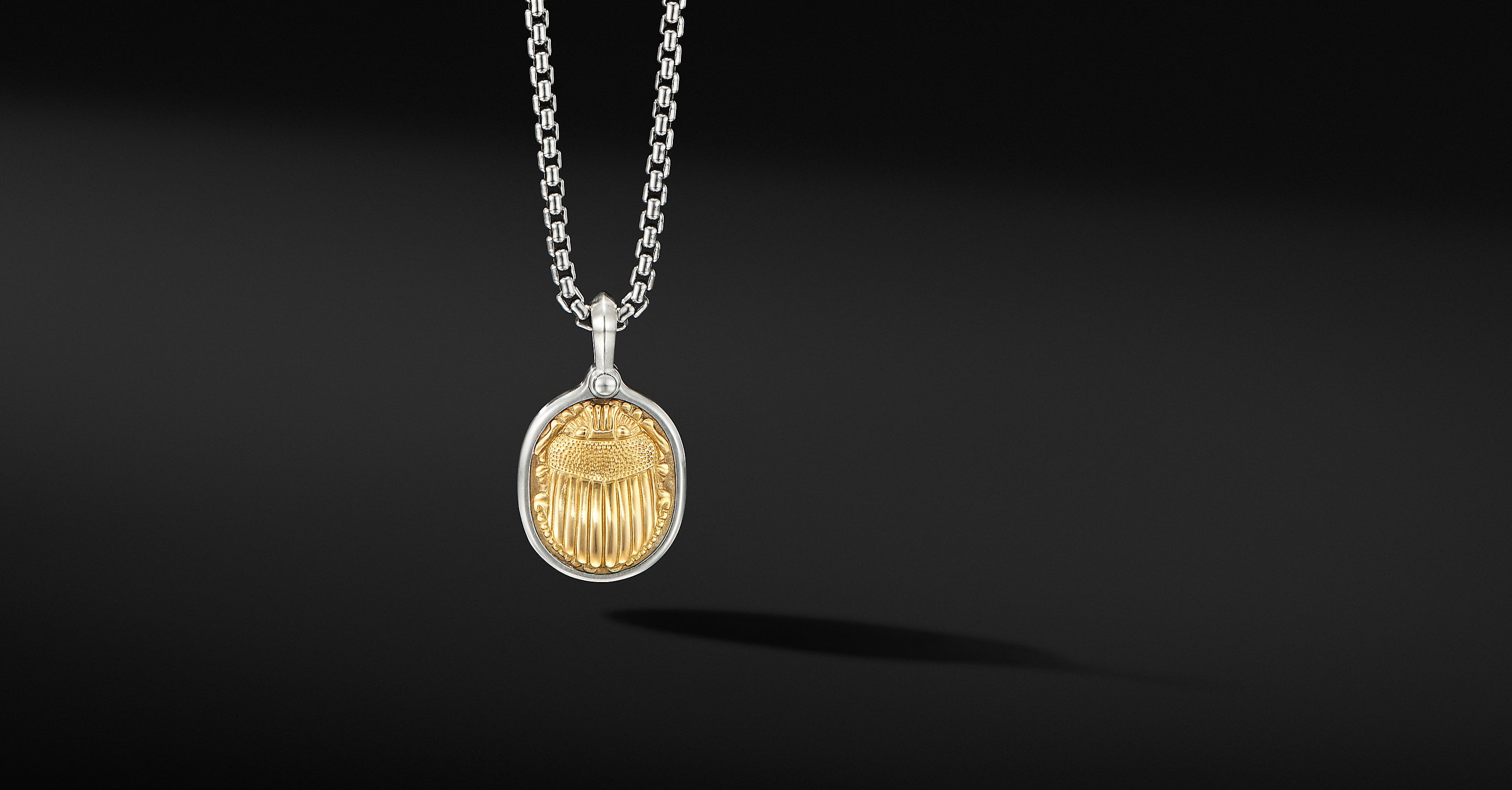 Petrvs Scarab Amulet with 18K Yellow Gold