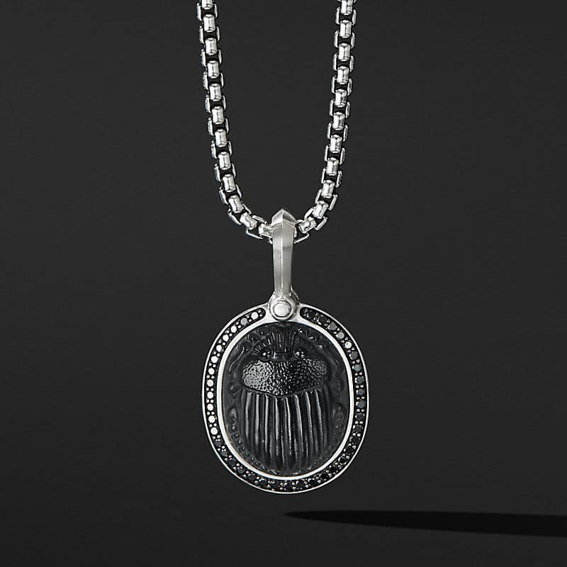 Petrvs® Scarab Amulet with Black Onyx and Black