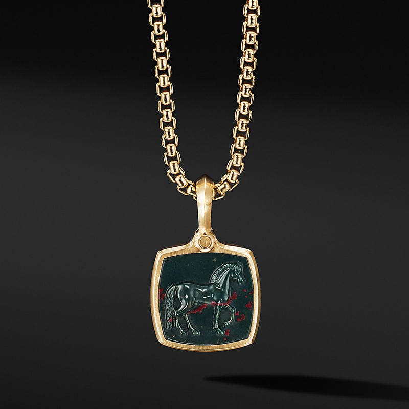 Petrvs® Horse Amulet in 18K Yellow Gold with