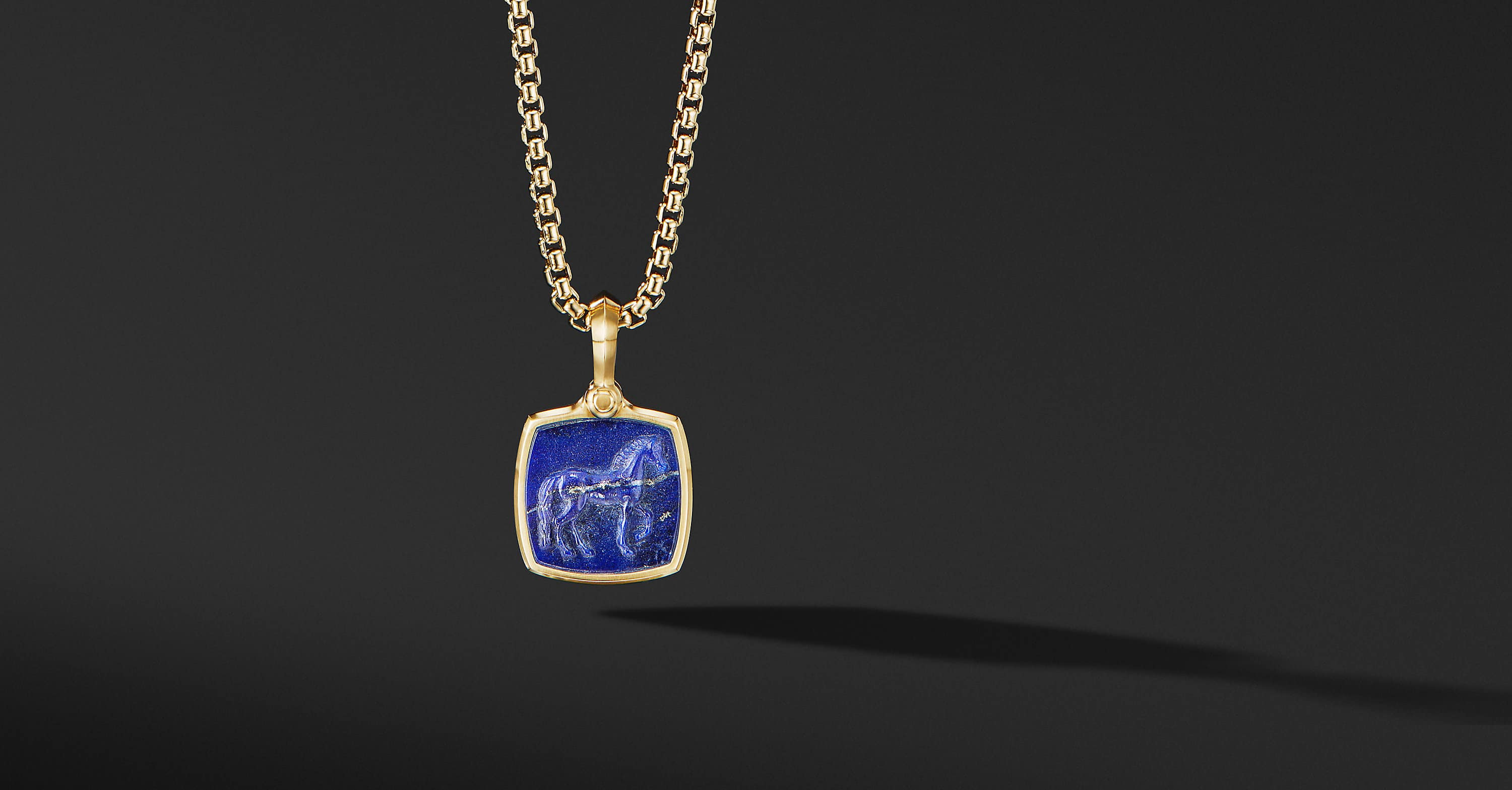Petrvs Horse Amulet in 18K Yellow Gold