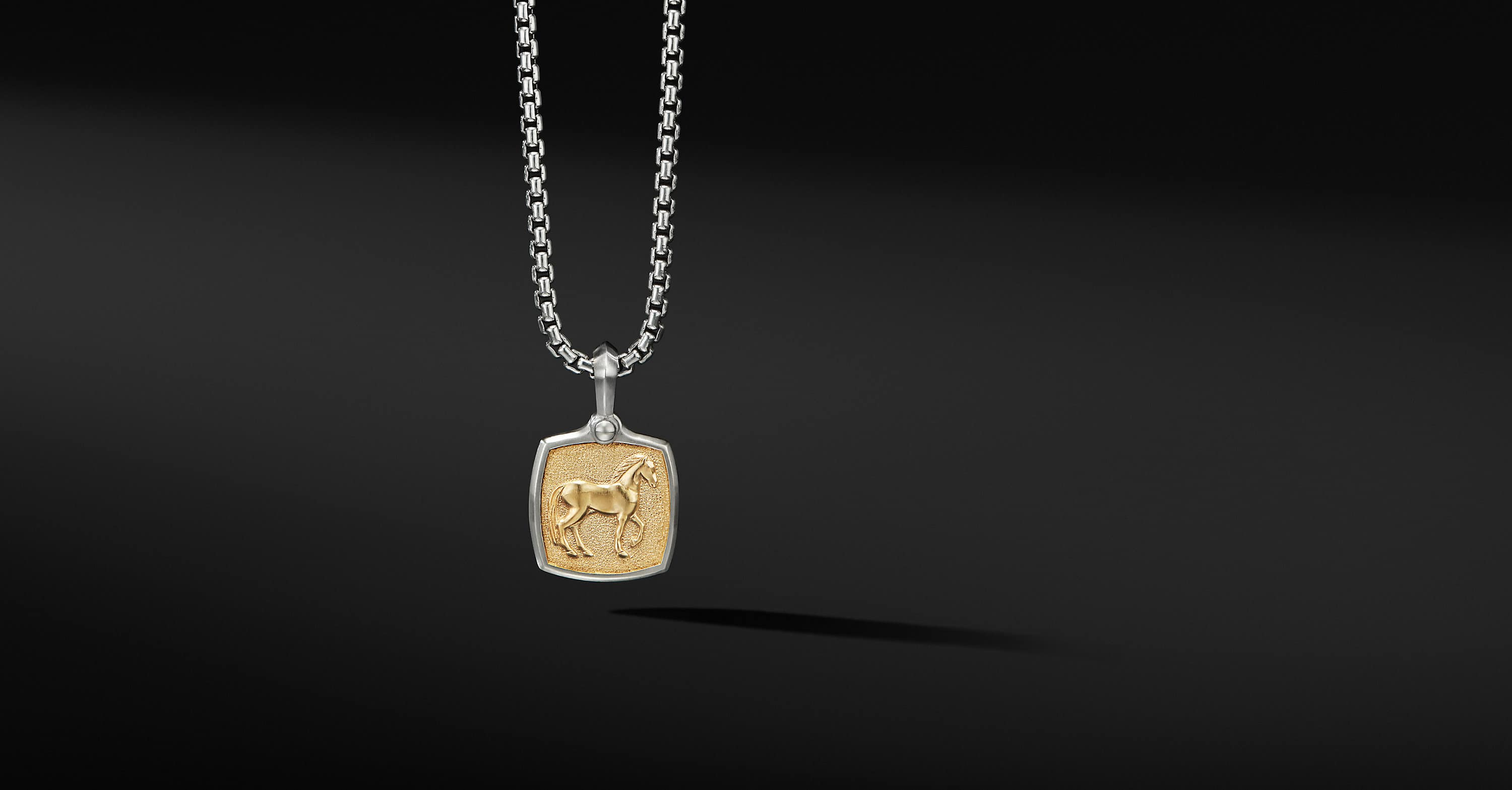 Petrvs Horse Amulet with 18K Yellow Gold