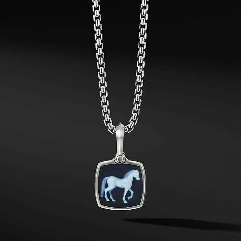 Petrvs® Horse Amulet with Banded Agate