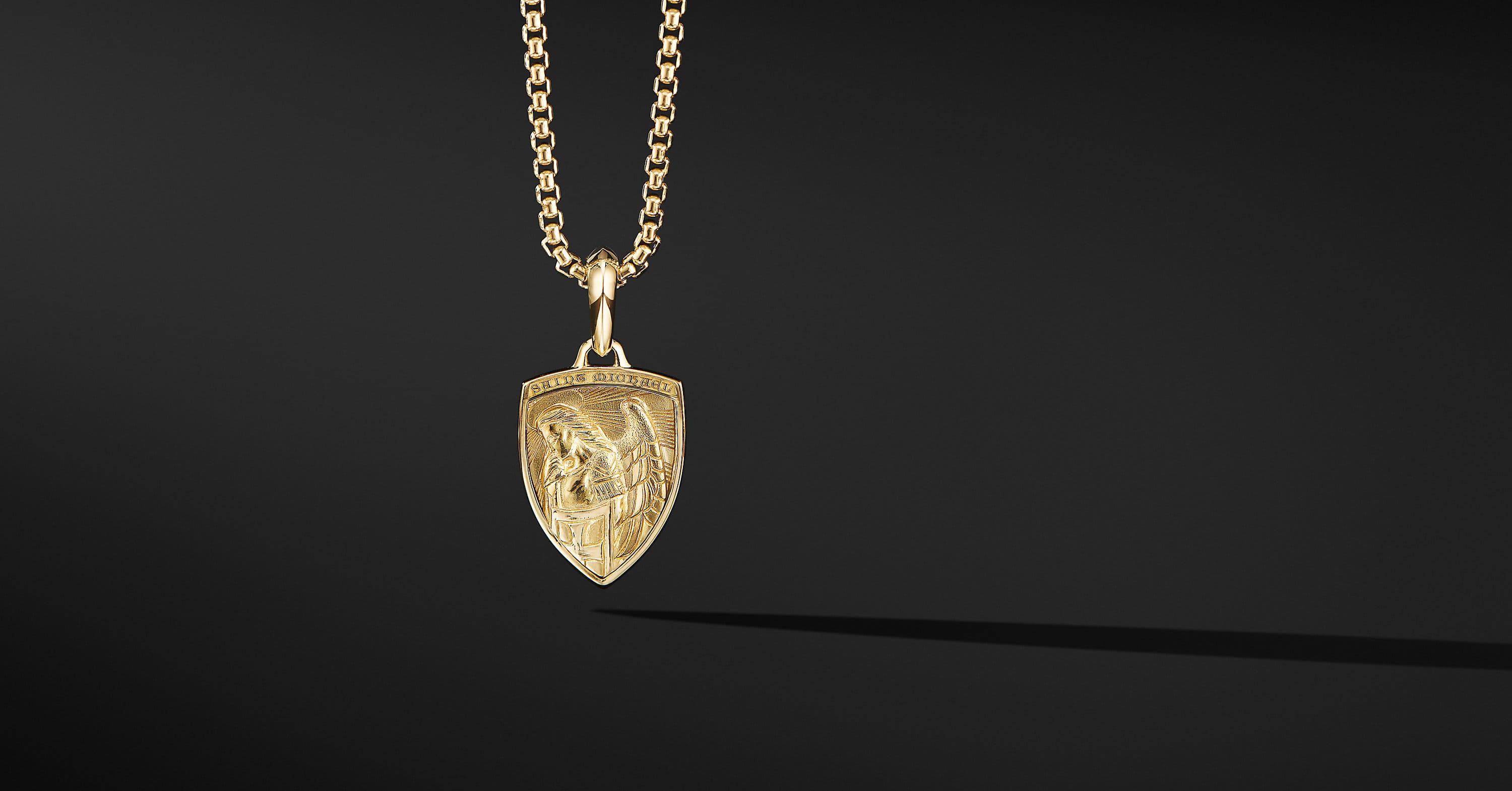 St. Michael Amulet in 18K Yellow Gold