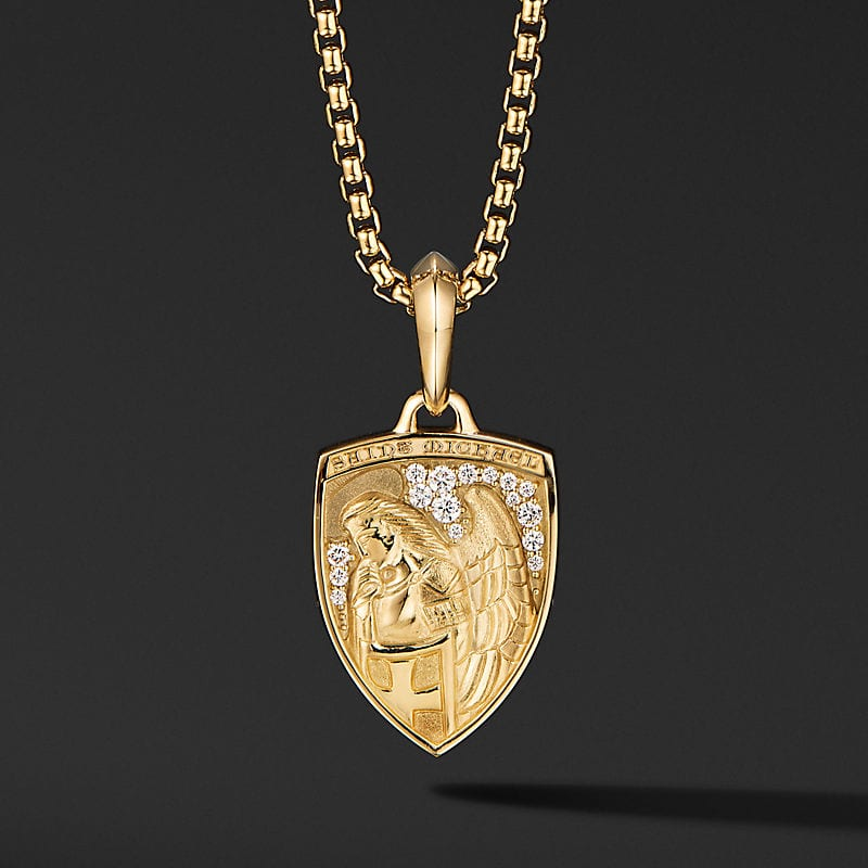 St. Michael Amulet in 18K Yellow Gold with