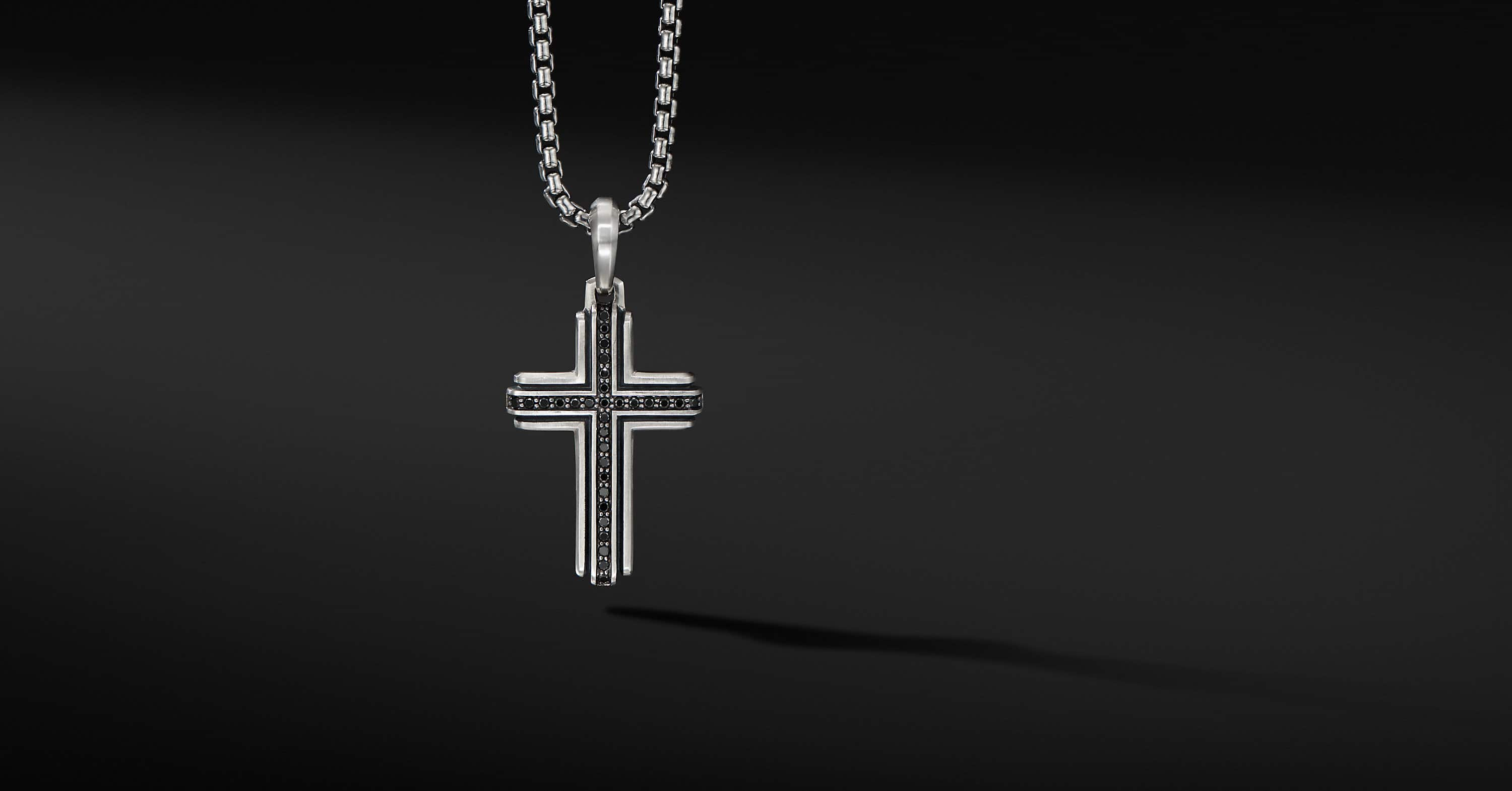 Deco Cross Pendant, 34mm