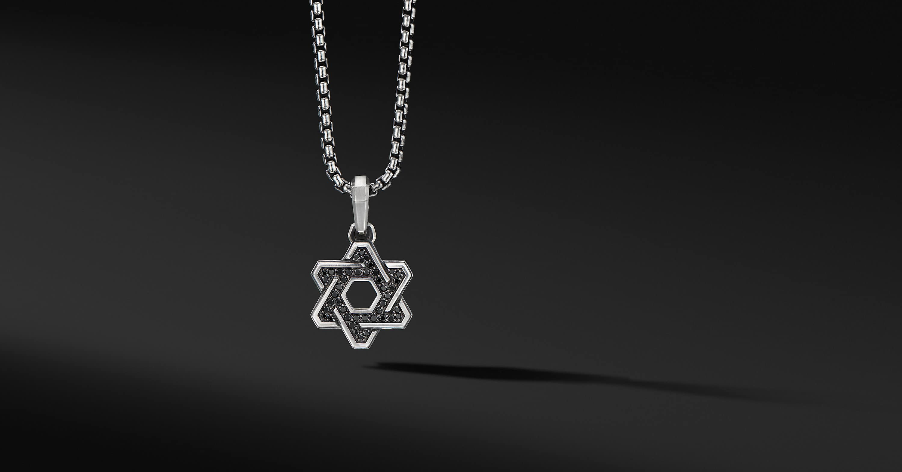 Deco Star of David Pendant