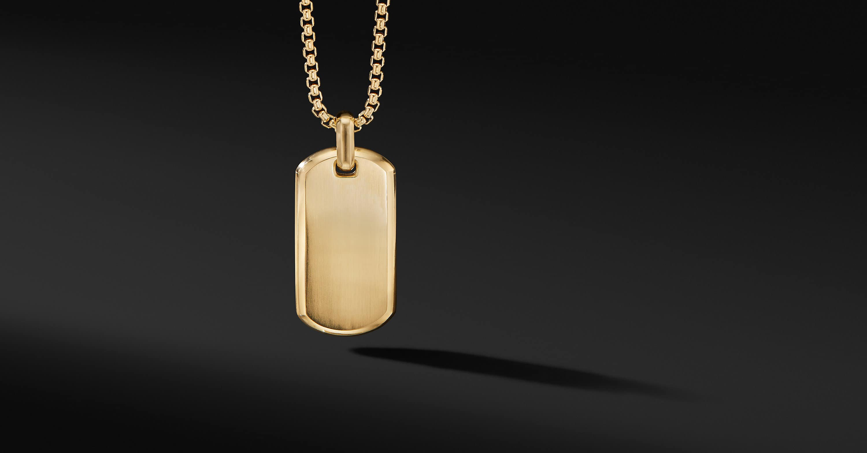 Streamline Tag in 18K Yellow Gold, 35mm