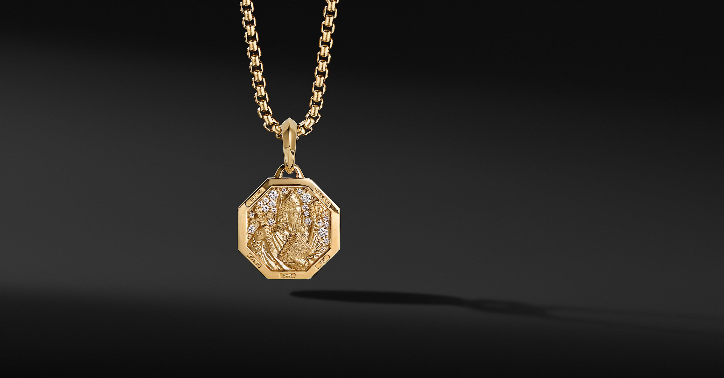 St. Patrick Amulet in 18K Yellow Gold