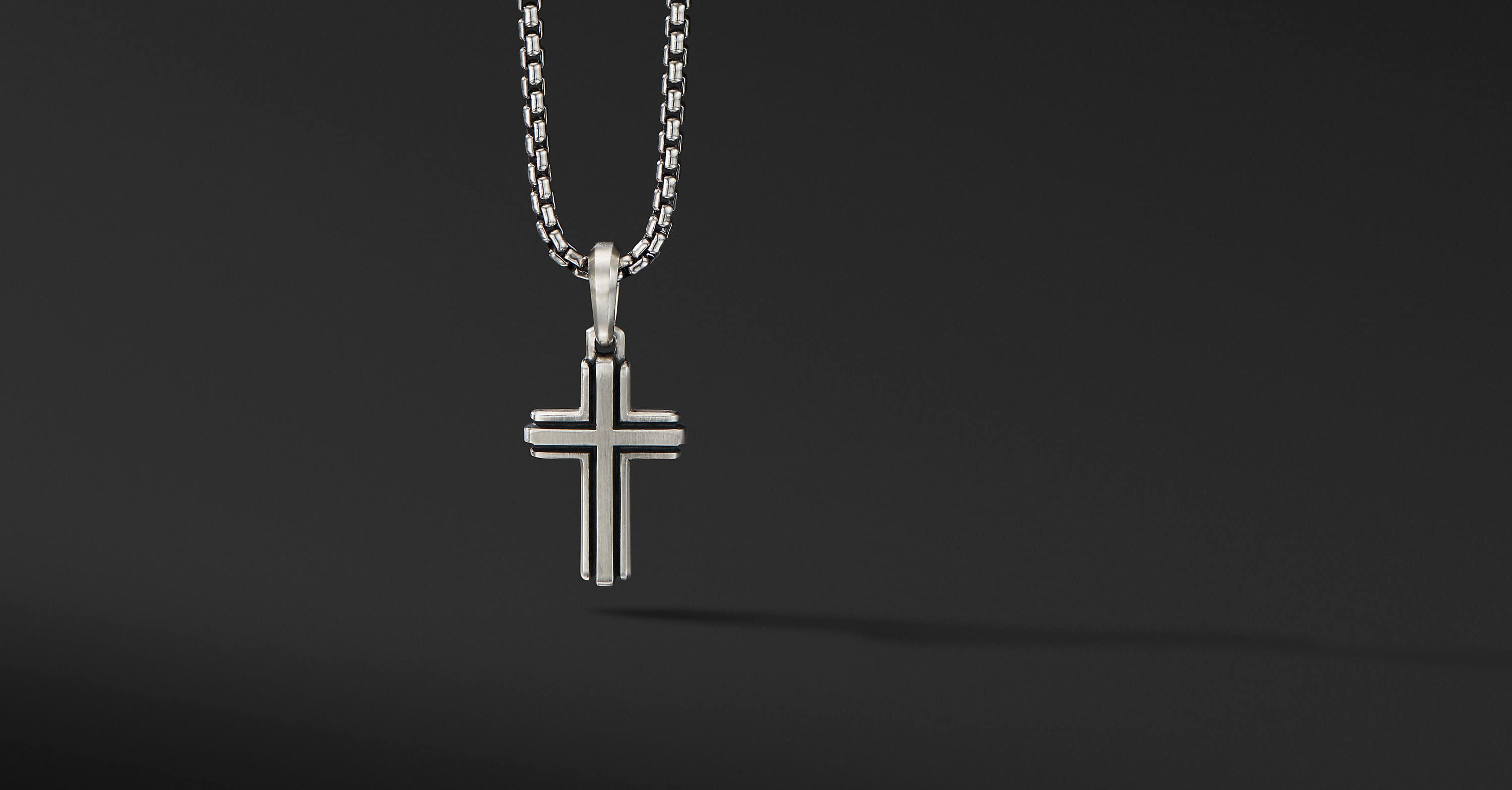 Deco Cross Pendant, 27mm