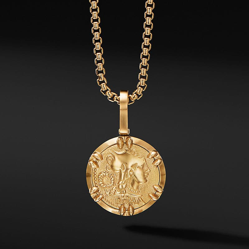 Roman Reversible Amulet in 18K Yellow Gold with