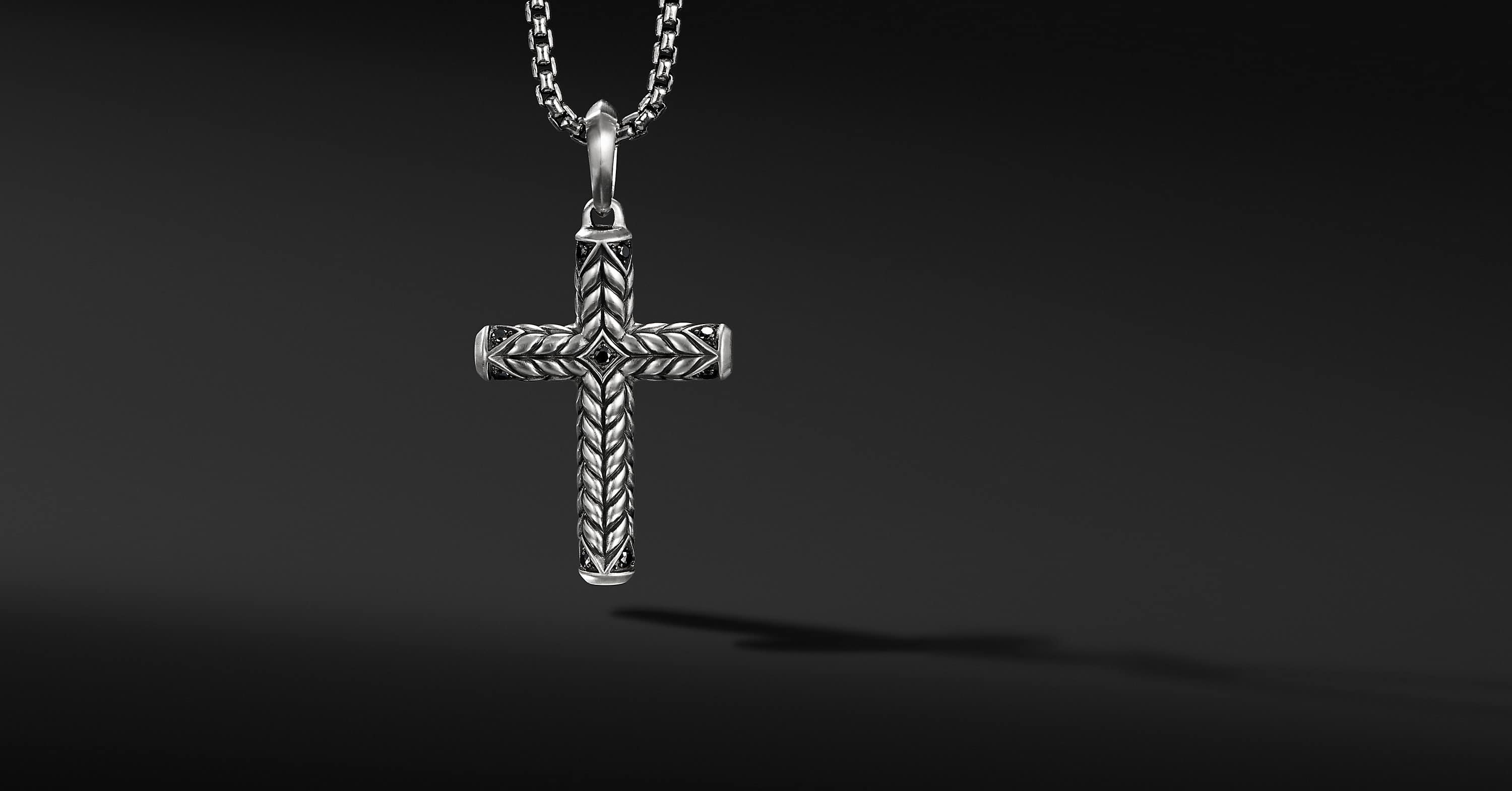 Chevron Sculpted Cross, 36mm