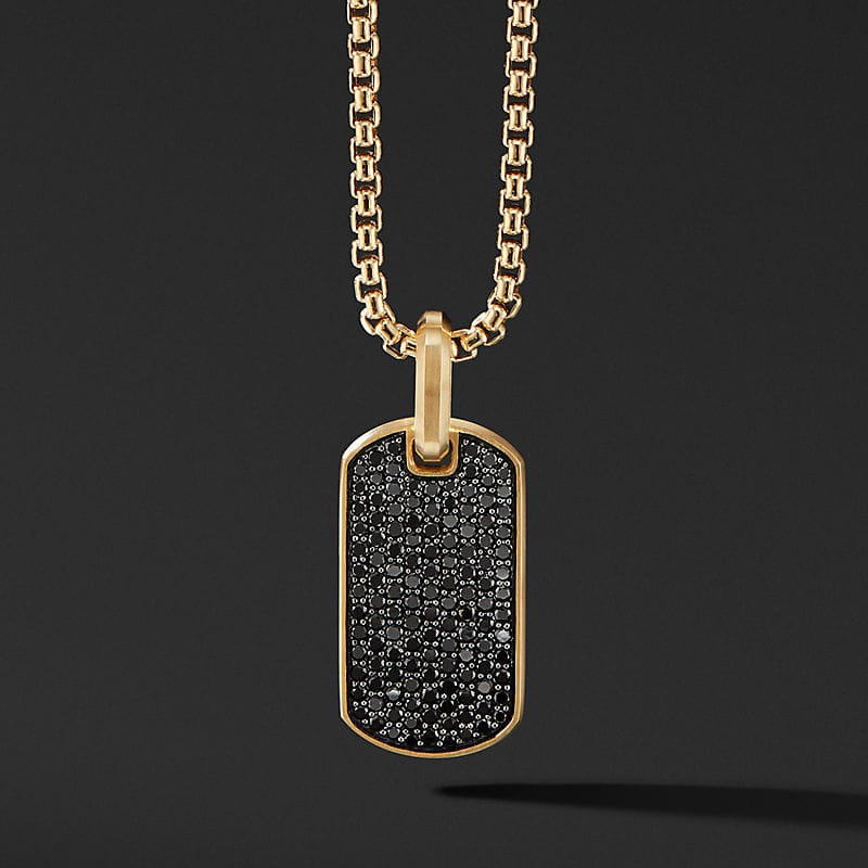 Streamline Tag in 18K Yellow Gold, 27mm