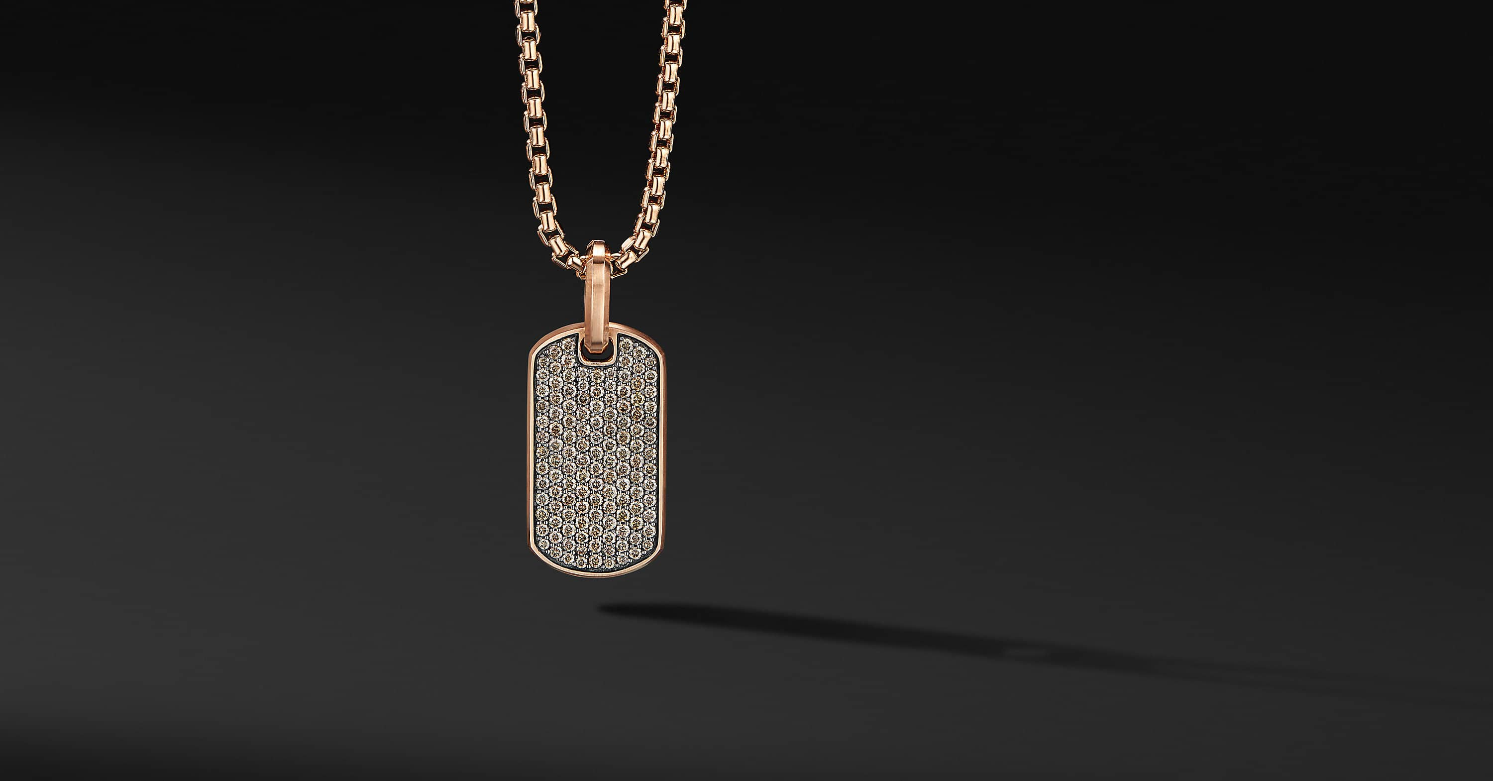Streamline Tag in 18K Rose Gold, 27mm