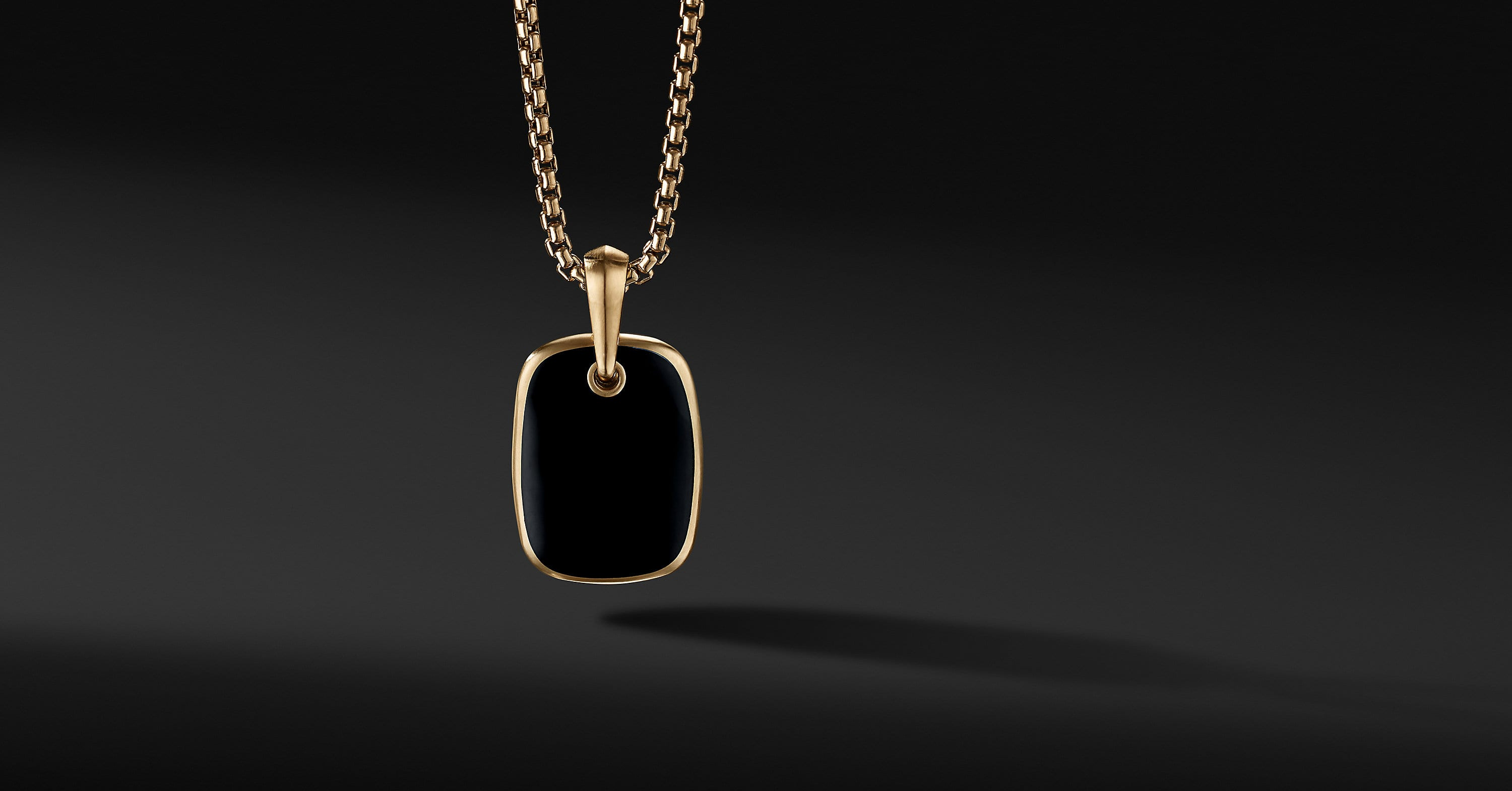 Tablet Amulet in 18K Yellow Gold