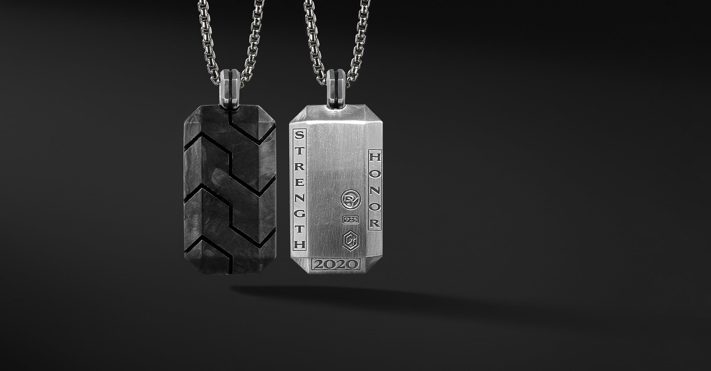 2020 Strength and Honor Forged Carbon Tag