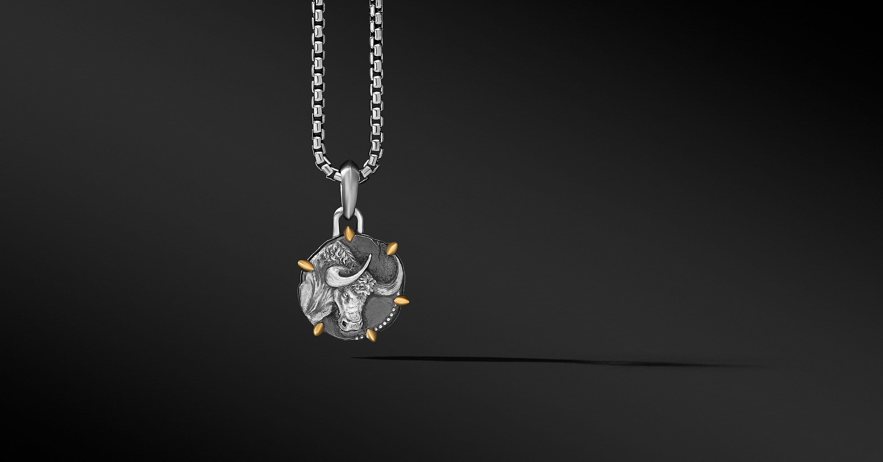 Taurus Amulet with 18K Yellow Gold