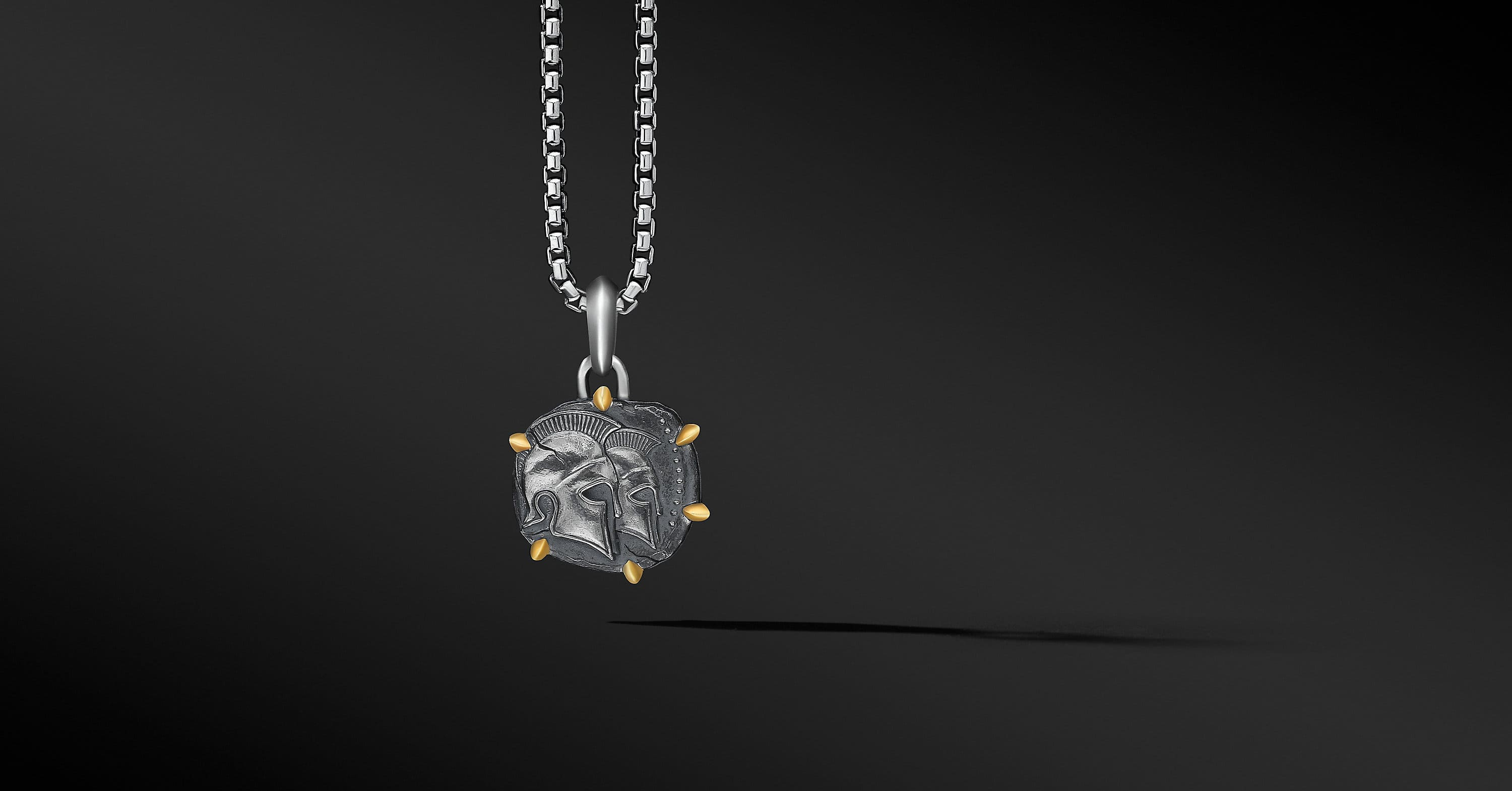 Gemini Amulet with 18K Yellow Gold