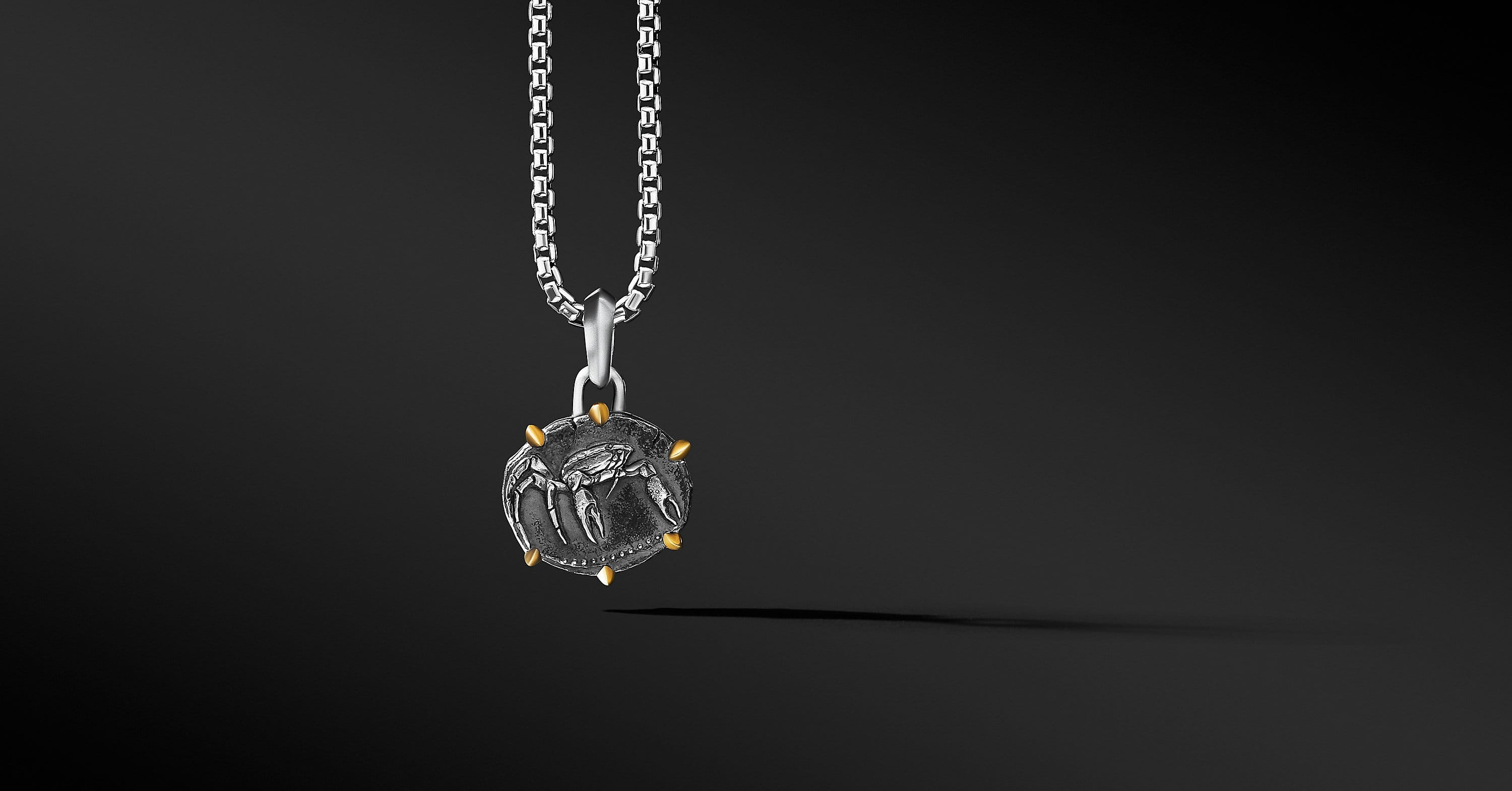 Cancer Amulet with 18K Yellow Gold