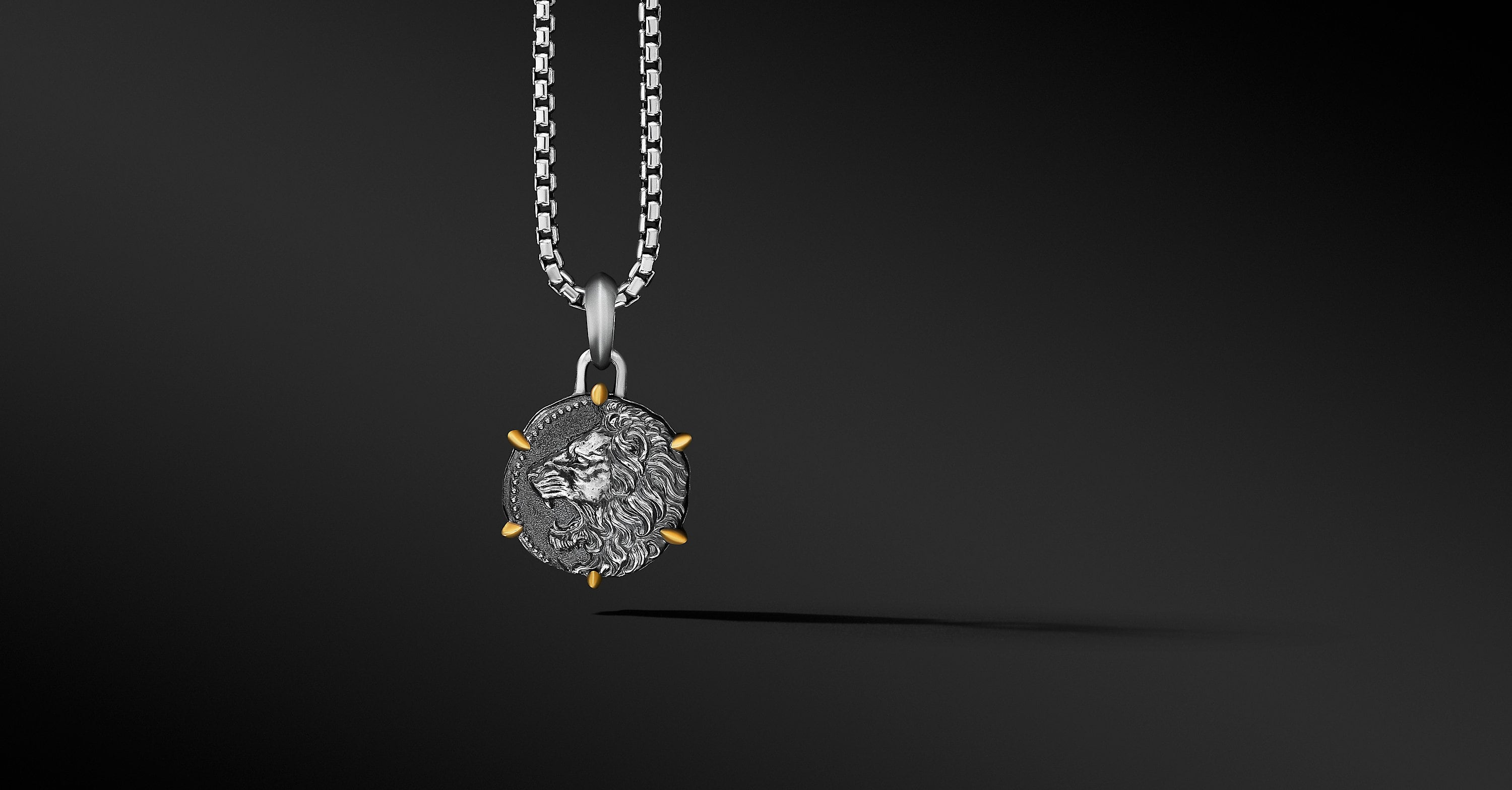 Leo Amulet with 18K Yellow Gold