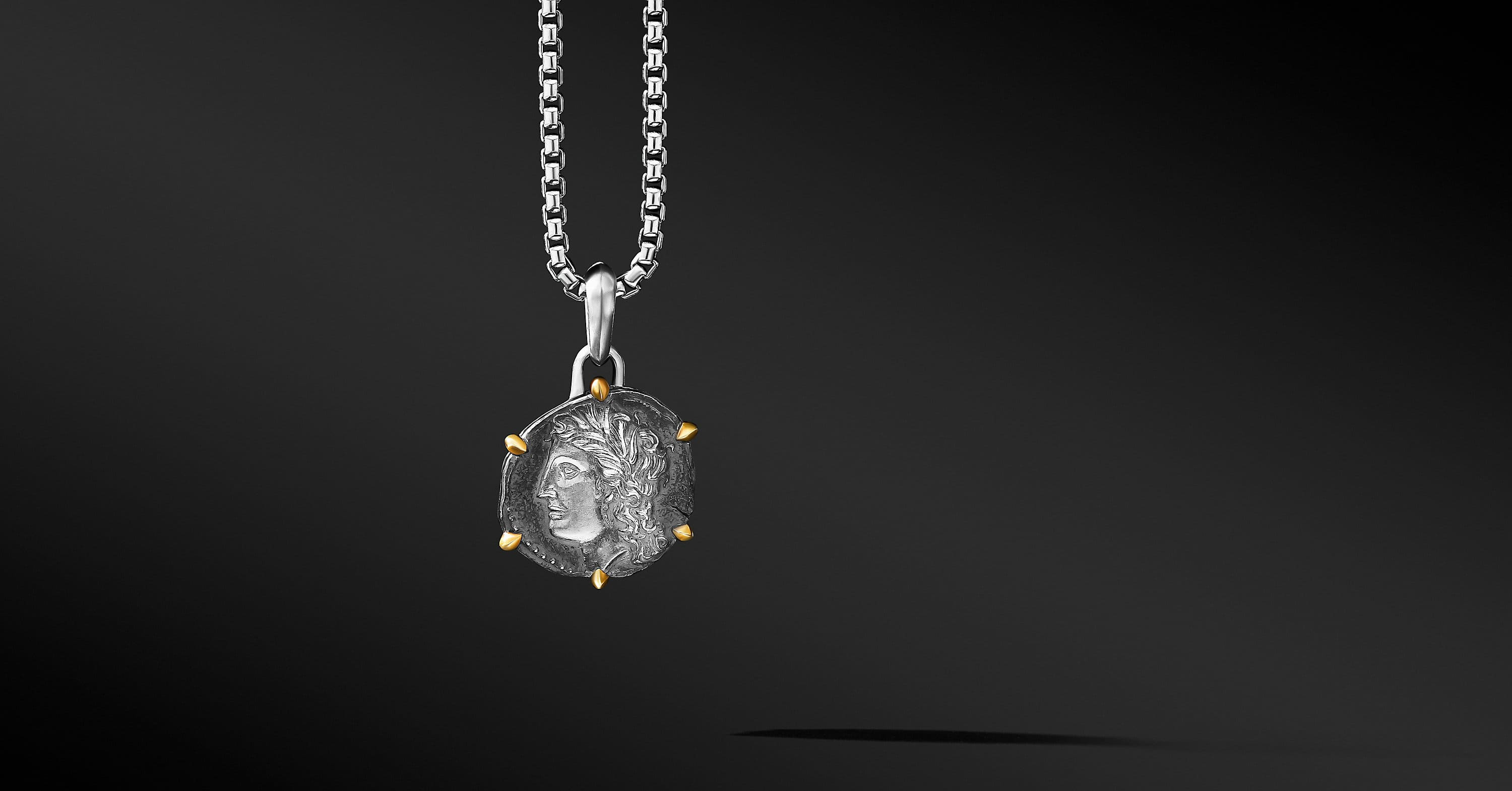 Virgo Amulet with 18K Yellow Gold