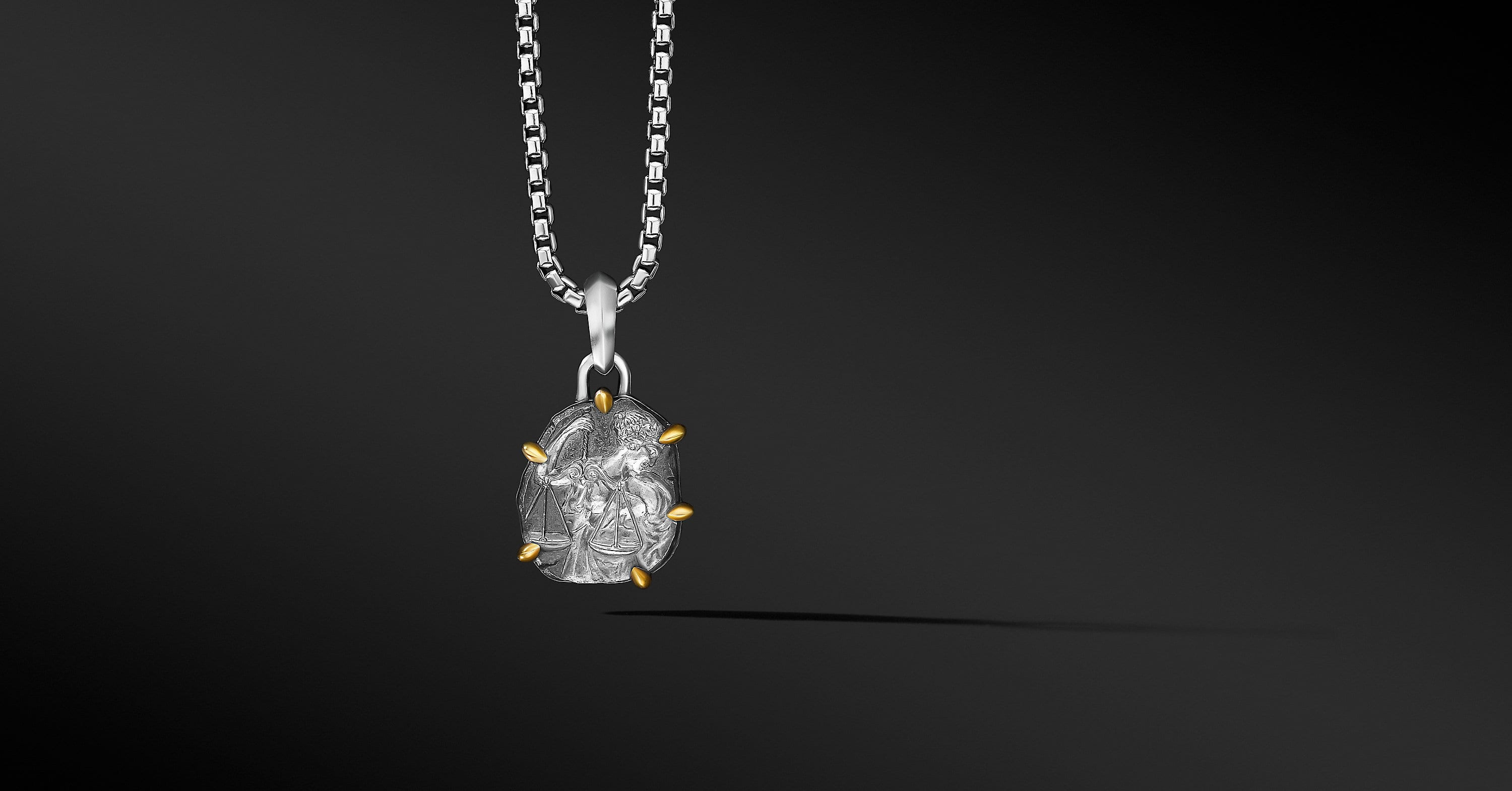Libra Amulet with 18K Yellow Gold