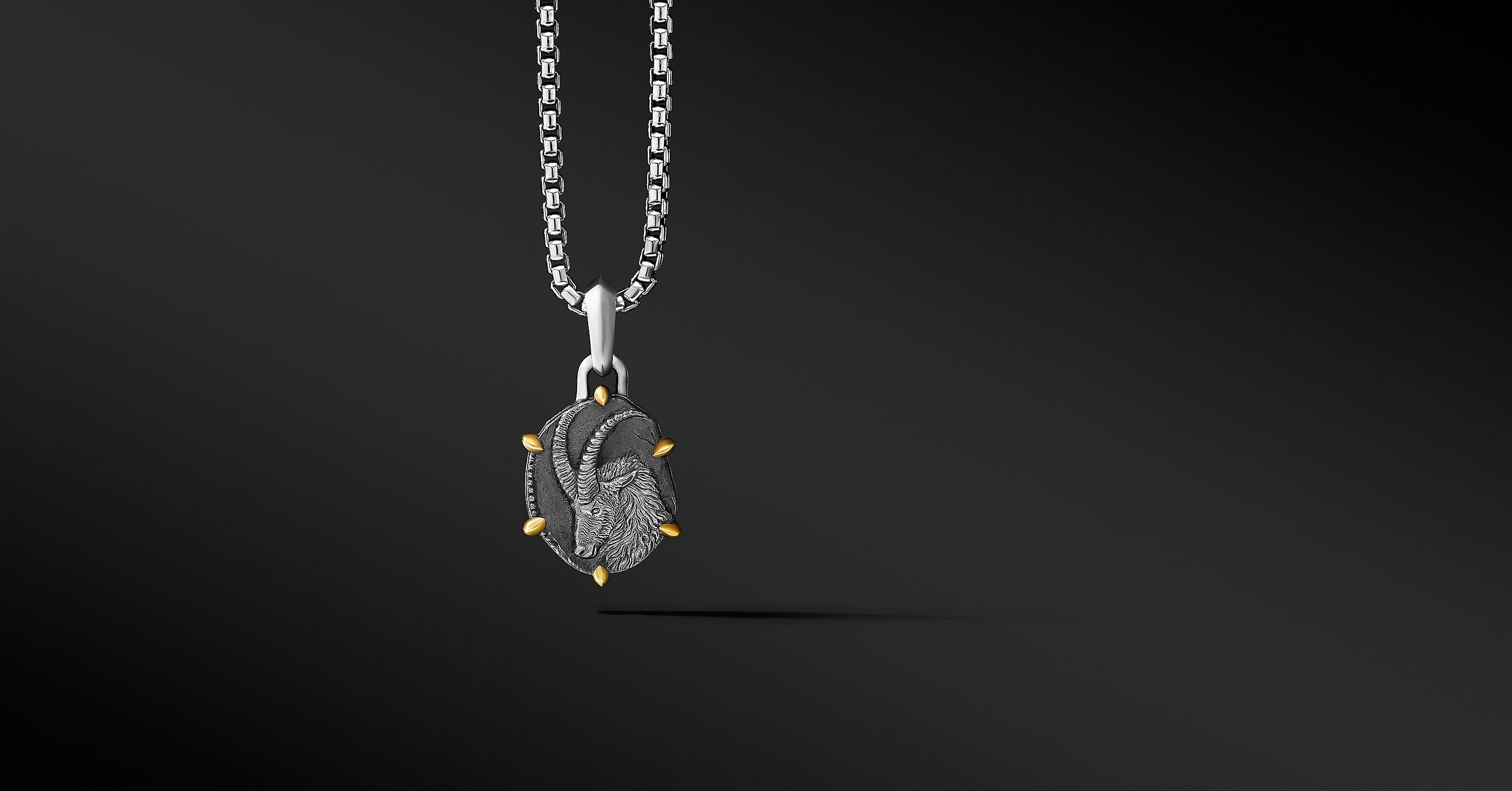 Capricorn Amulet with 18K Yellow Gold