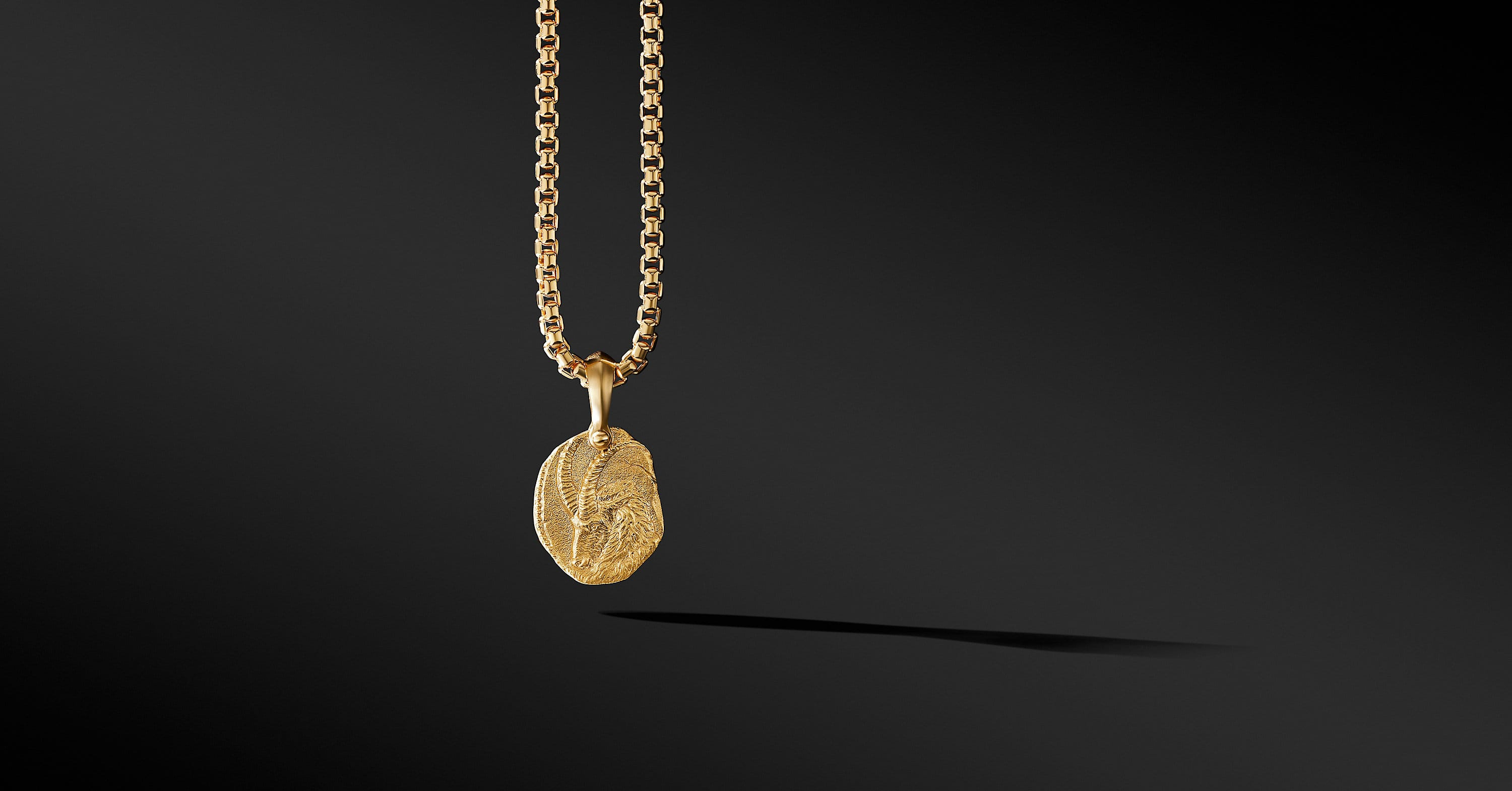 Capricorn Amulet in 18K Yellow Gold