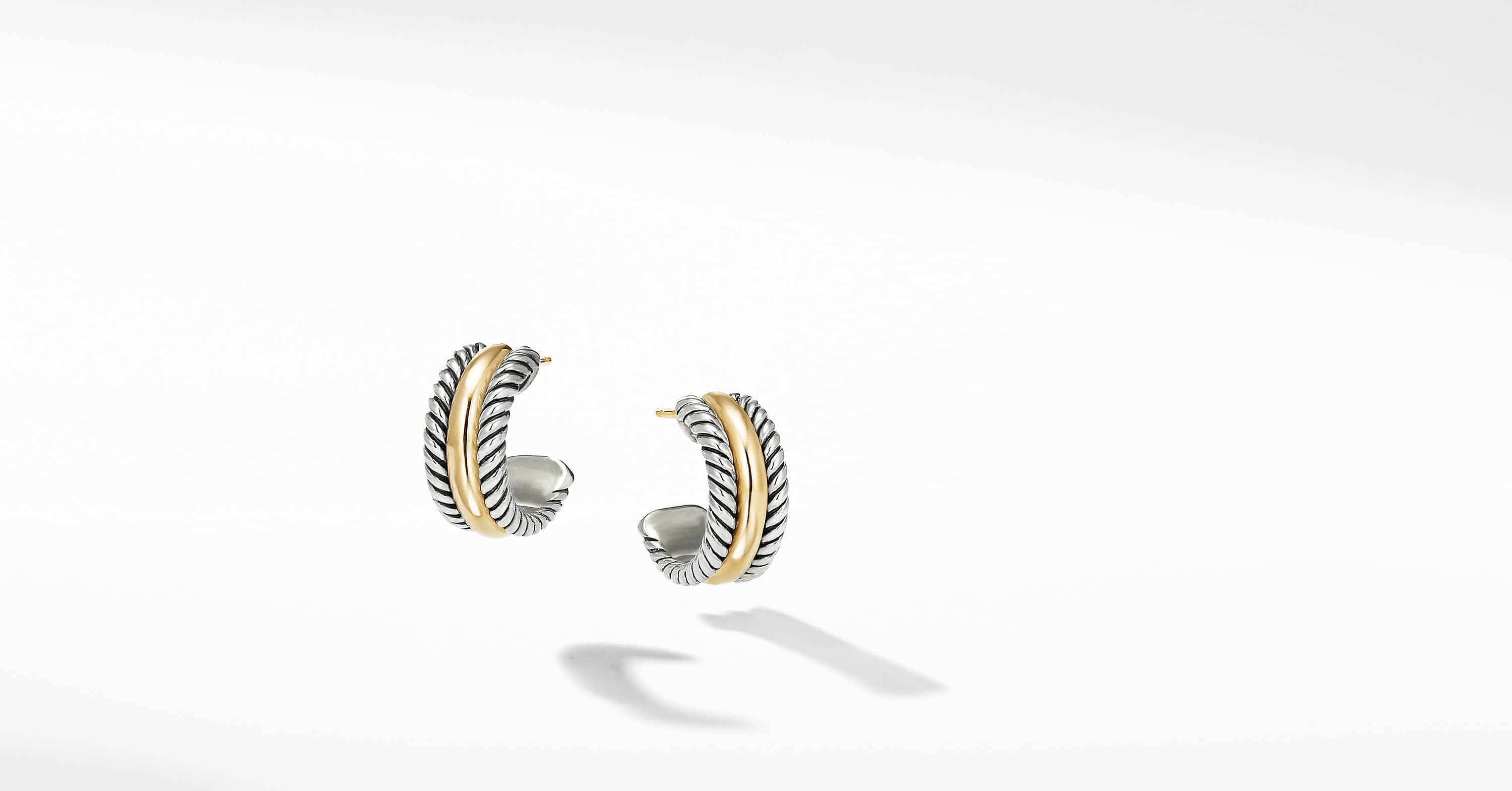 Cable Collectibles Hoop Earrings with 14K Gold