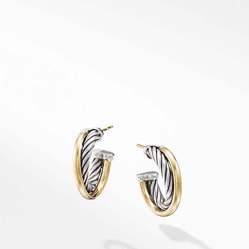 The Crossover Collection® Hoop Earrings with 18K Yellow