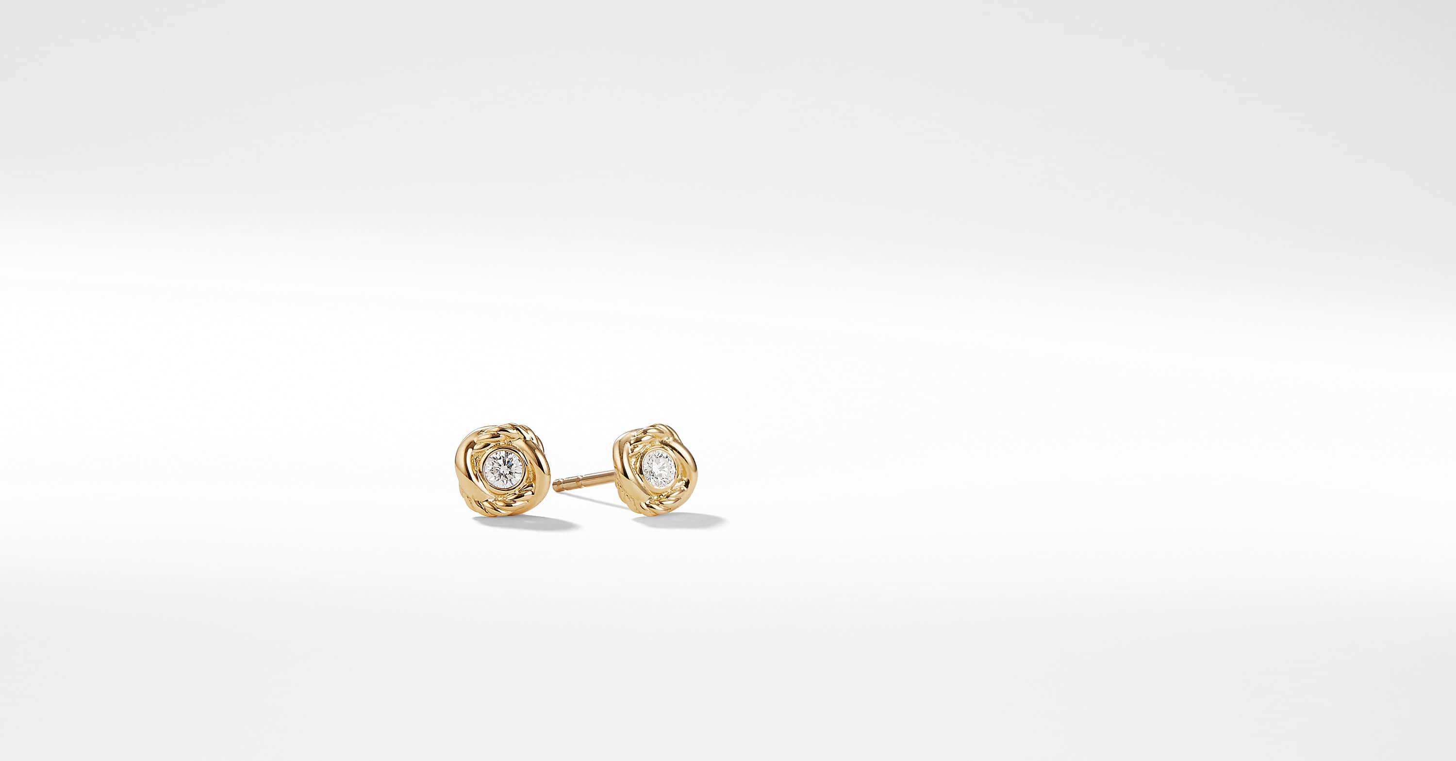 Infinity Earrings with Diamonds in 18K Gold