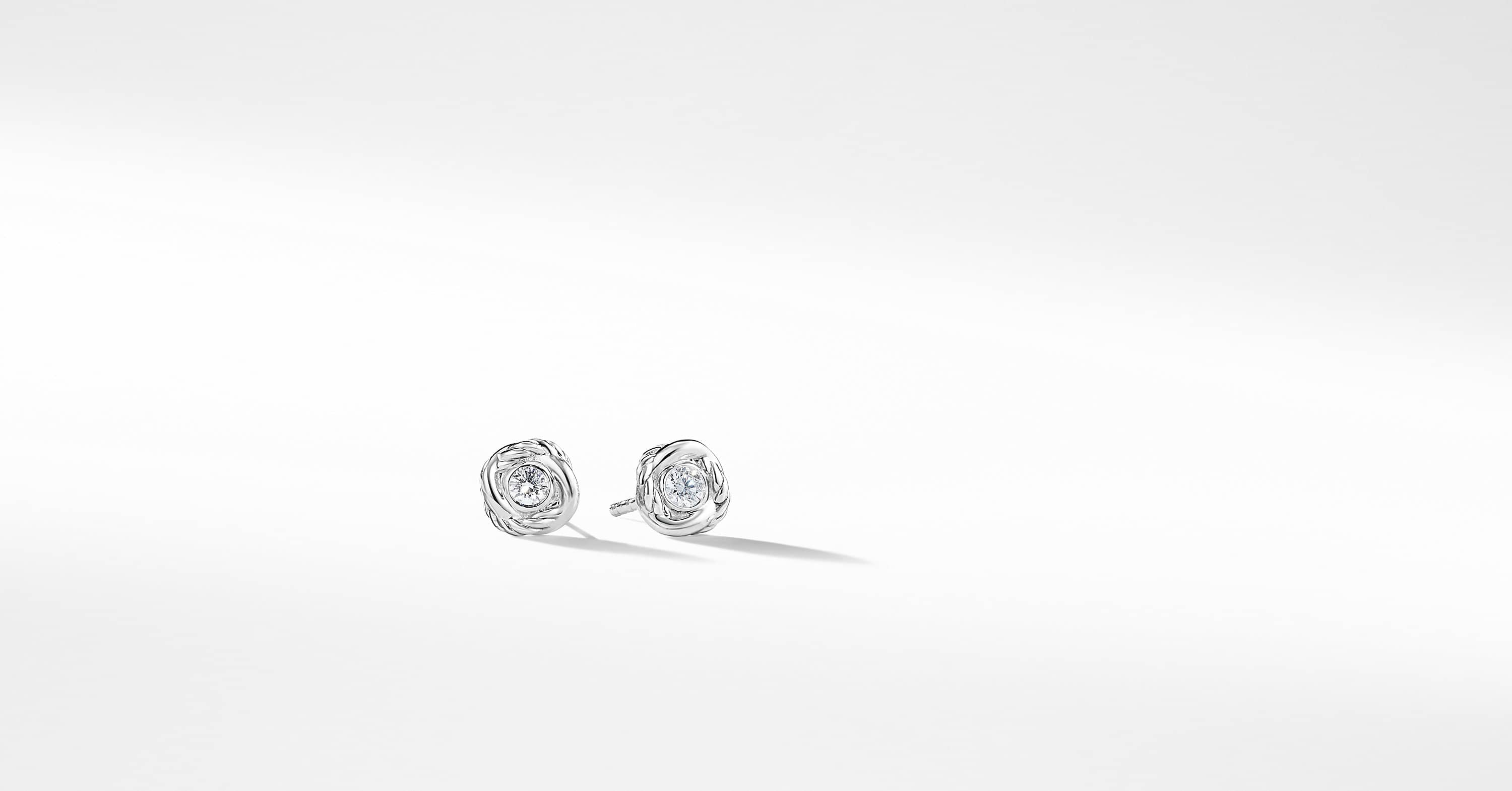 Infinity Earrings with Diamonds in 18K White Gold