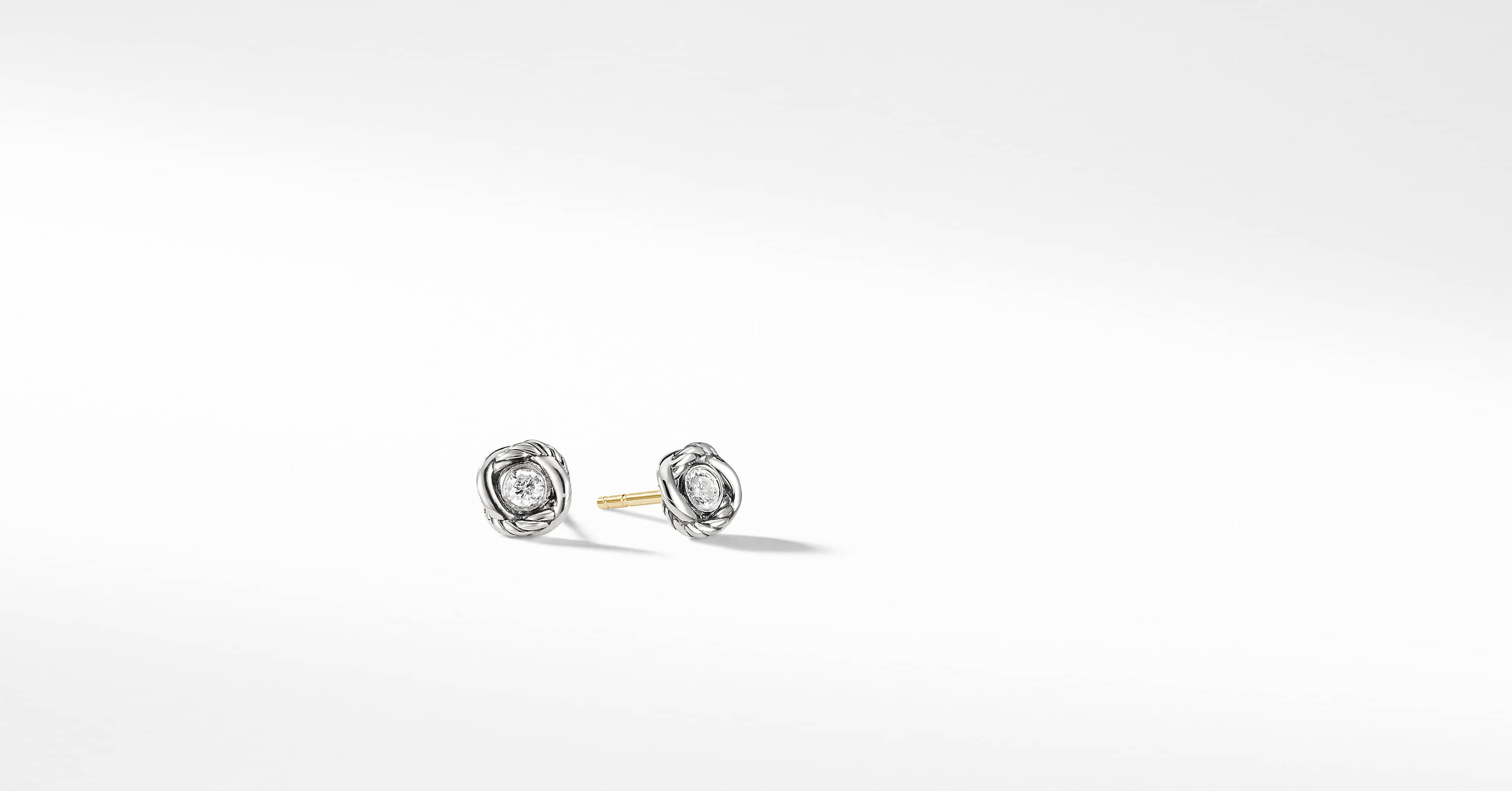 Infinity Earrings with Diamonds