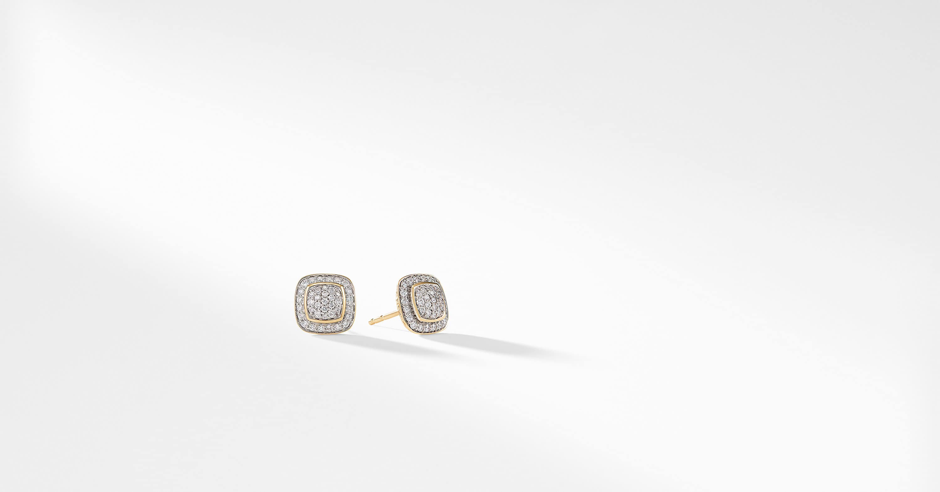 Petite Albion Earrings with Diamonds in 18K Gold