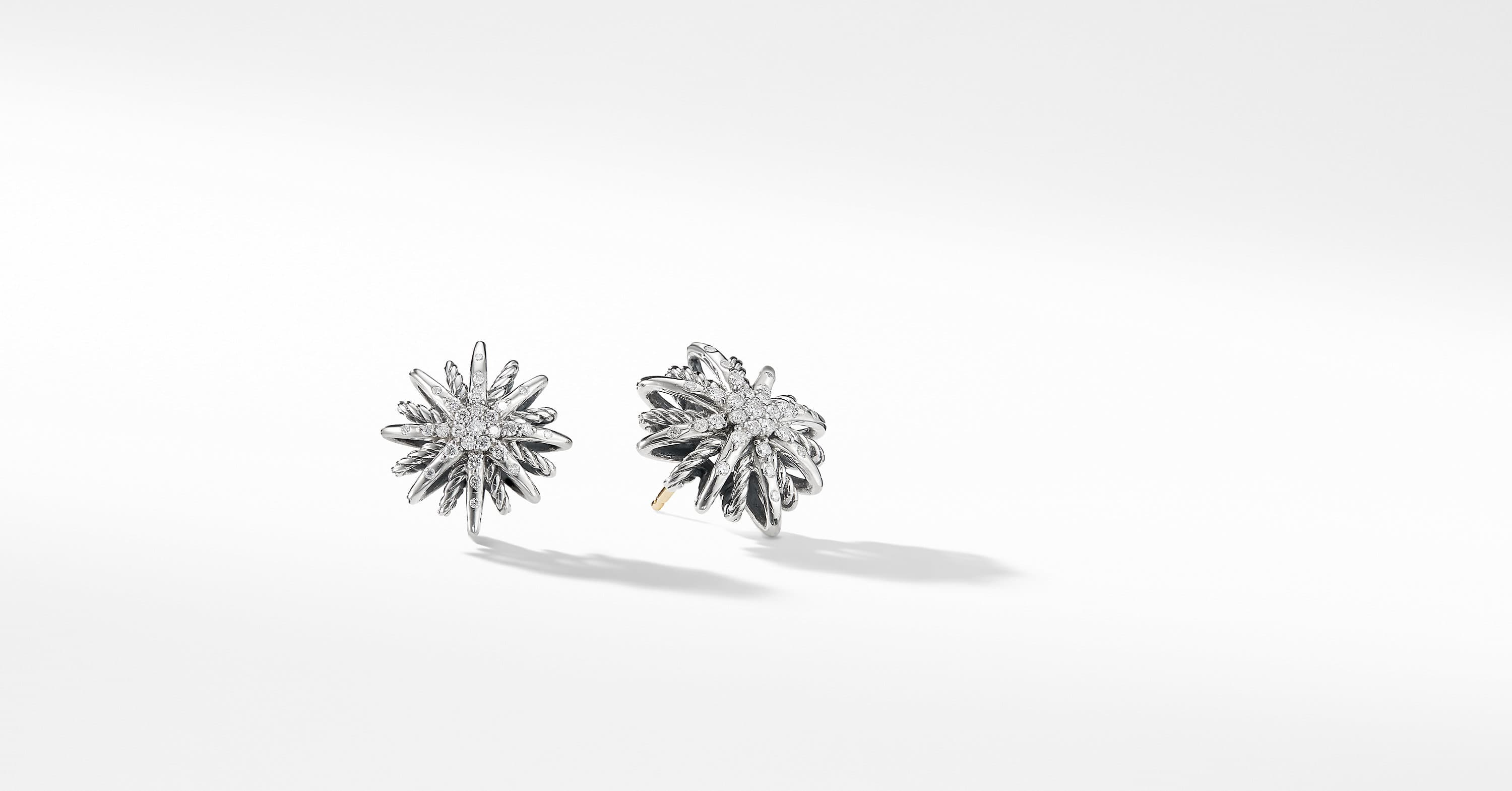 Starburst Small Earrings with Diamonds, 16mm