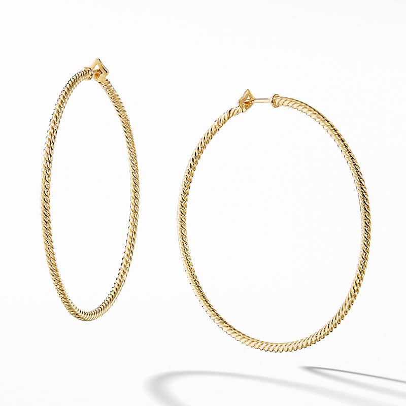 """Cable Classics Hoop Earrings in 18K Yellow Gold, 2"""""""