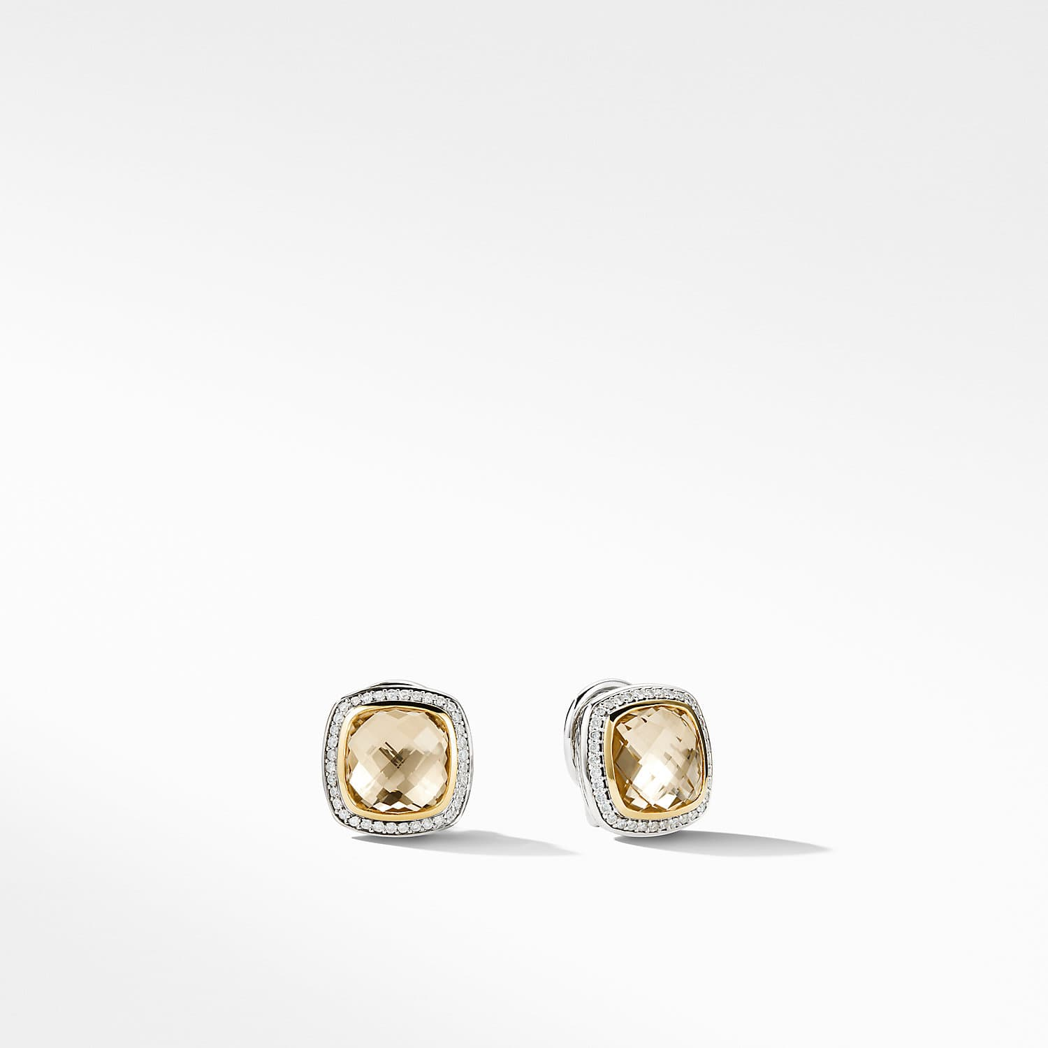 Albion Earrings With Champagne Citrine Diamonds And 18k Gold Product Image