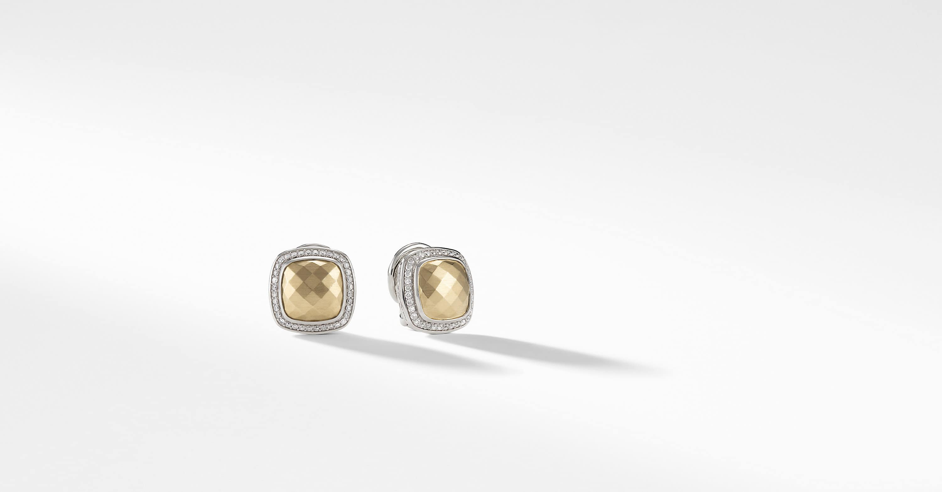 Albion Earrings with Diamonds and 18K Gold, 11mm